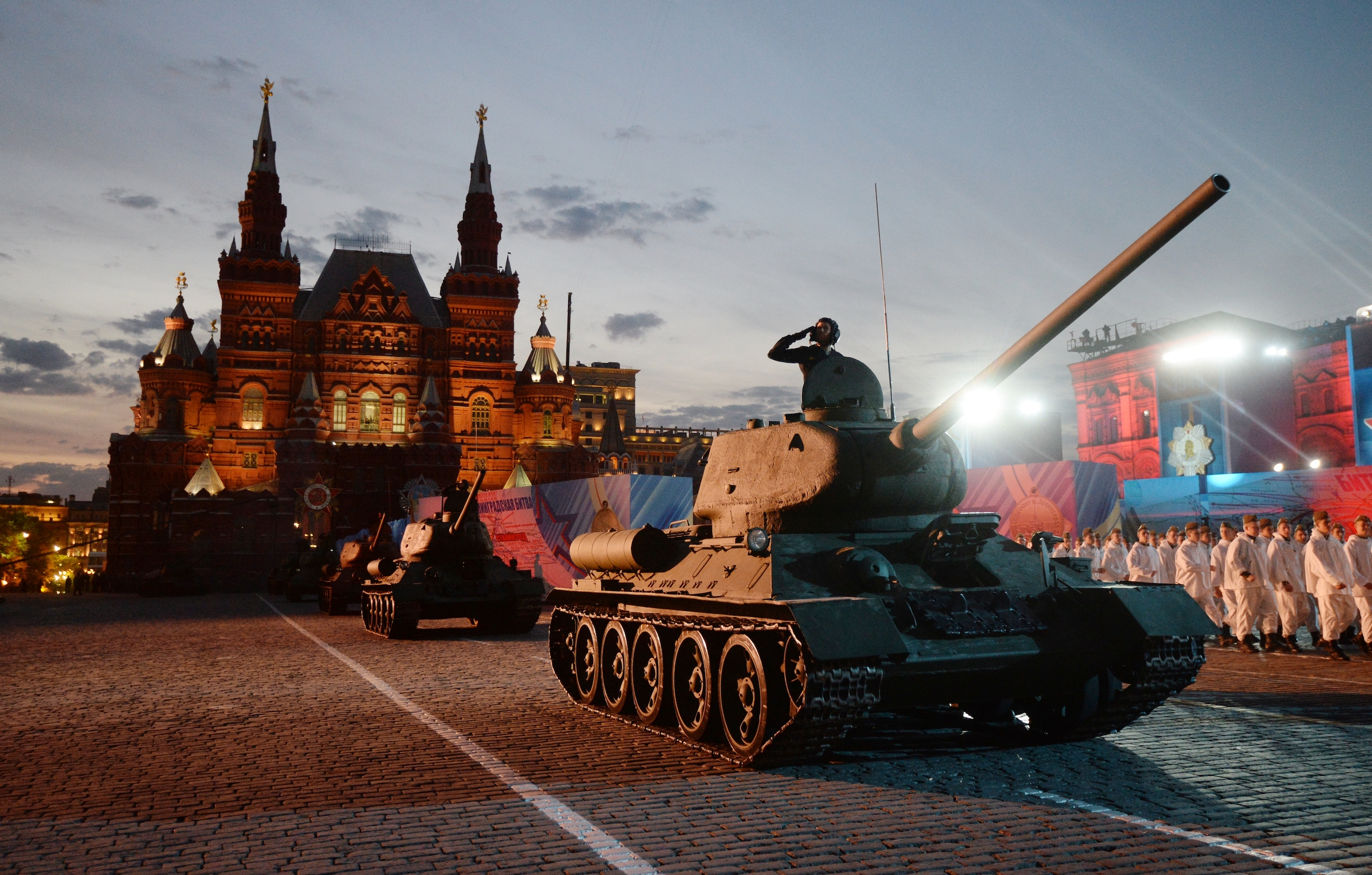 A gala concert was held in Red Square to mark the 70th anniversary victory, May 9, 2015 in Moscow.