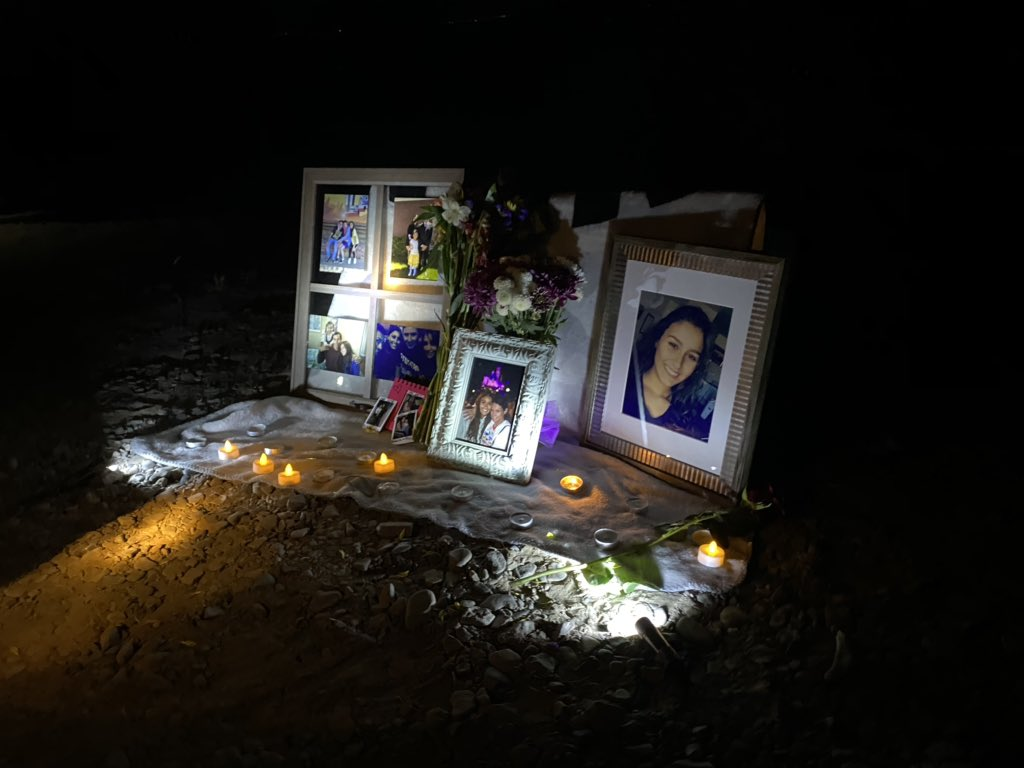 A vigil at The Knolls on the shore of Utah Lake takes place on Saturday                     to support the families of Priscilla Bienkowski and Sophia Hernandez after the two girls went missing, possibly swept away by strong winds while tubing, authorities say.