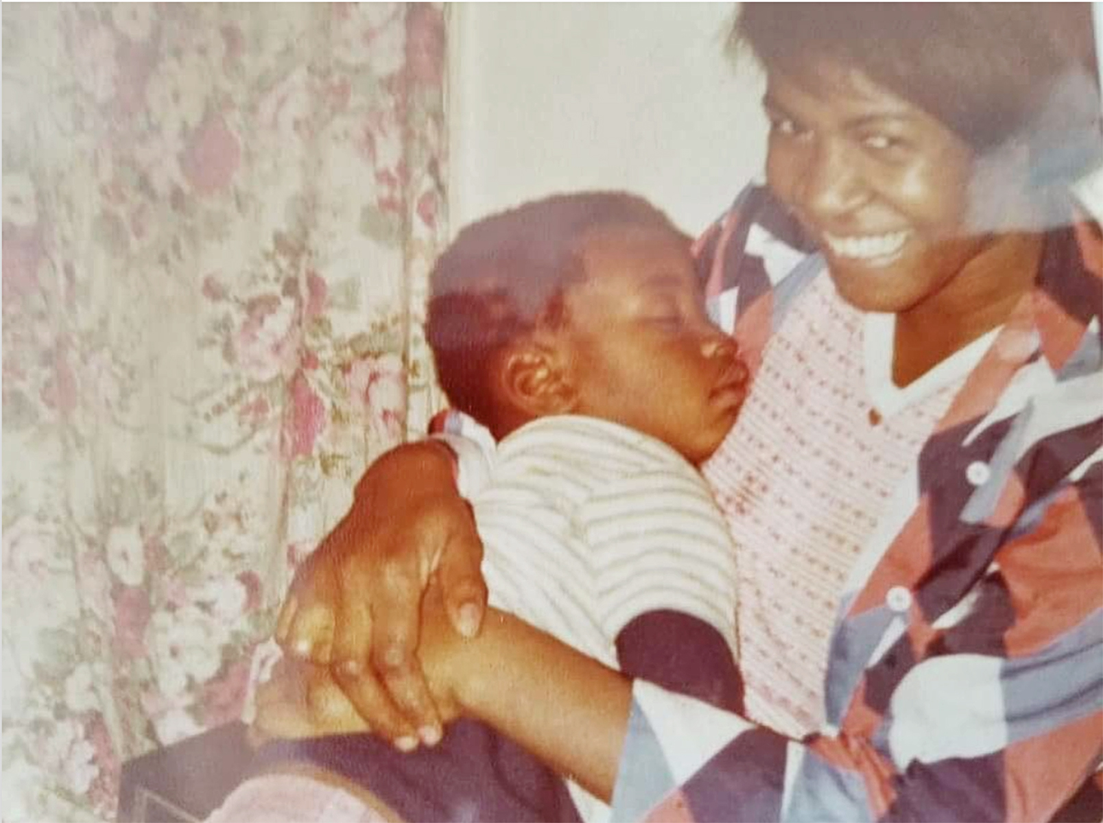 A young George Floyd with his mother Larcenia Floyd
