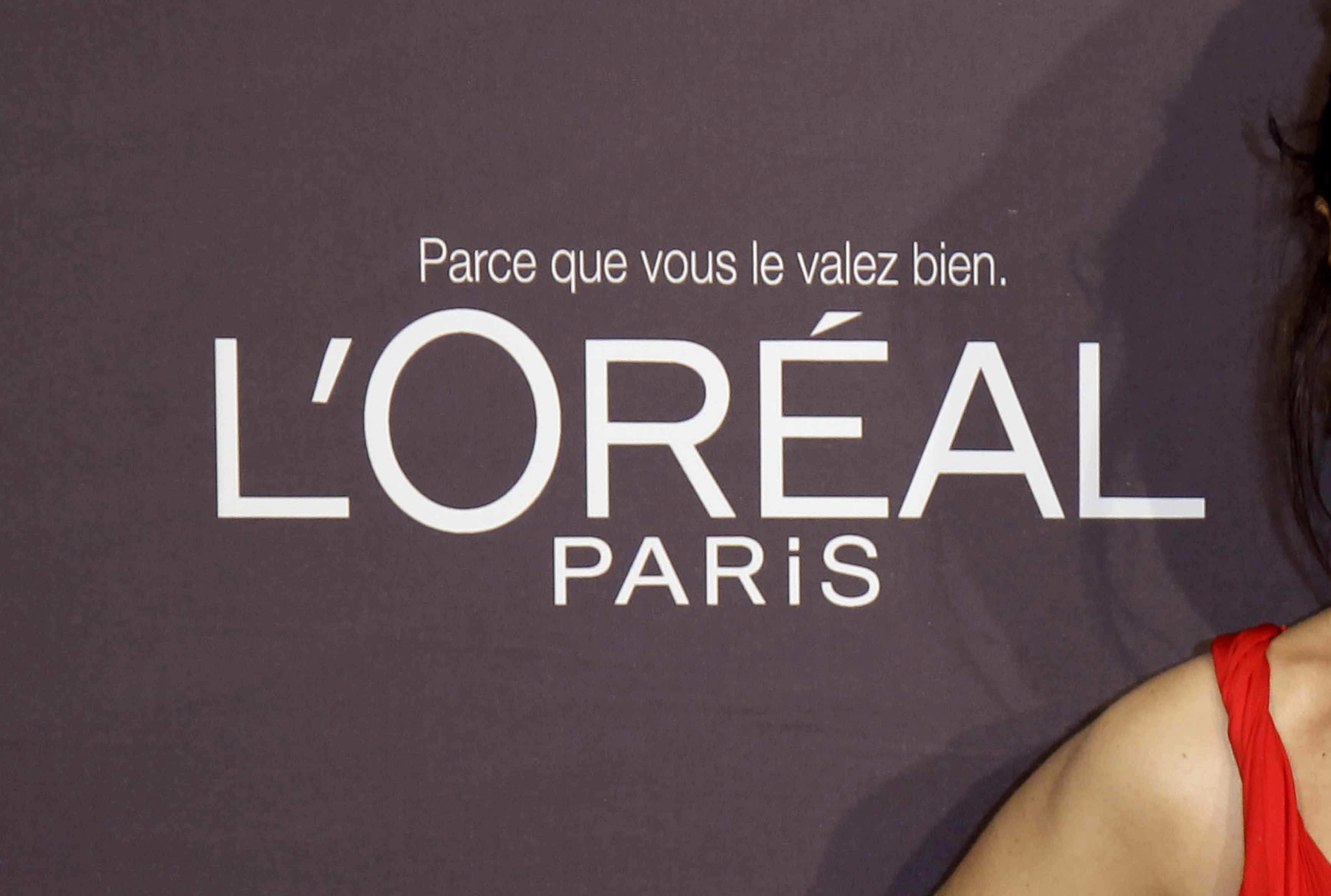 The L'Oreal logo at the 65th international film festival, in Cannes, southern France, on May 23, 2012.