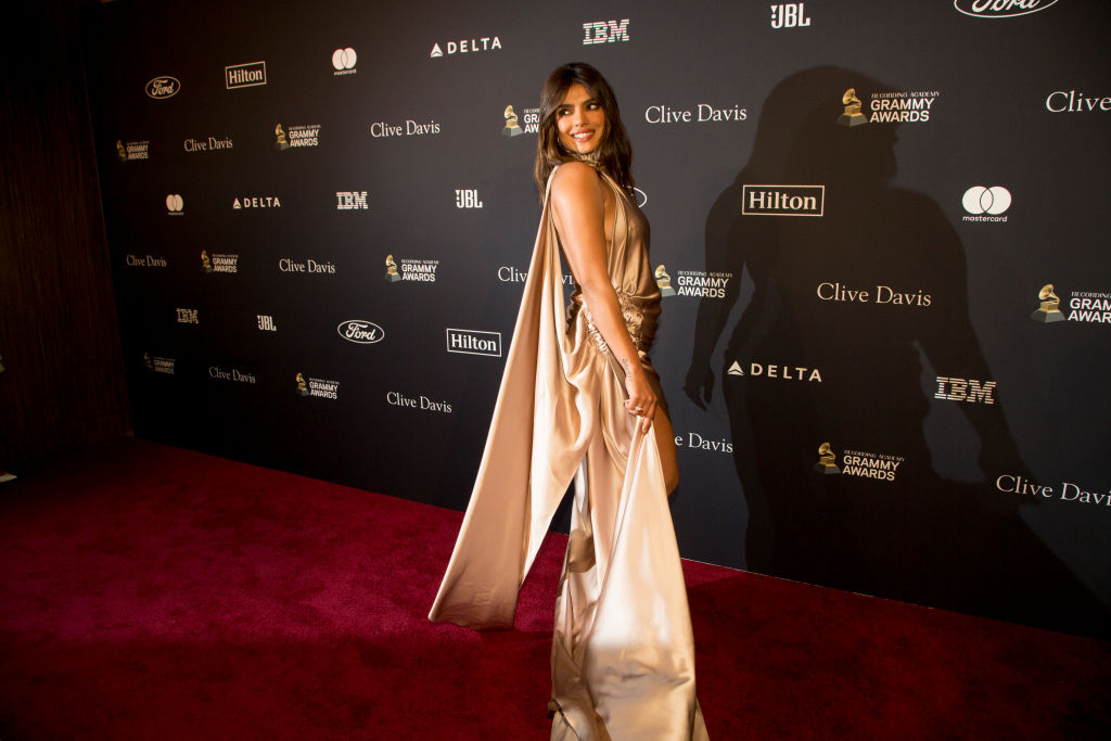 Priyanka Chopra Jonas at the Pre-GRAMMY Gala and GRAMMY on January 25, 2020 in Beverly Hills, California.