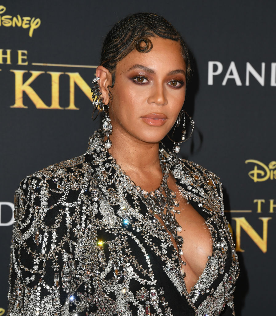 Beyonce attends the Premiere Of Disney's  The Lion King  at Dolby Theatre on July 09, 2019 in Hollywood, California.