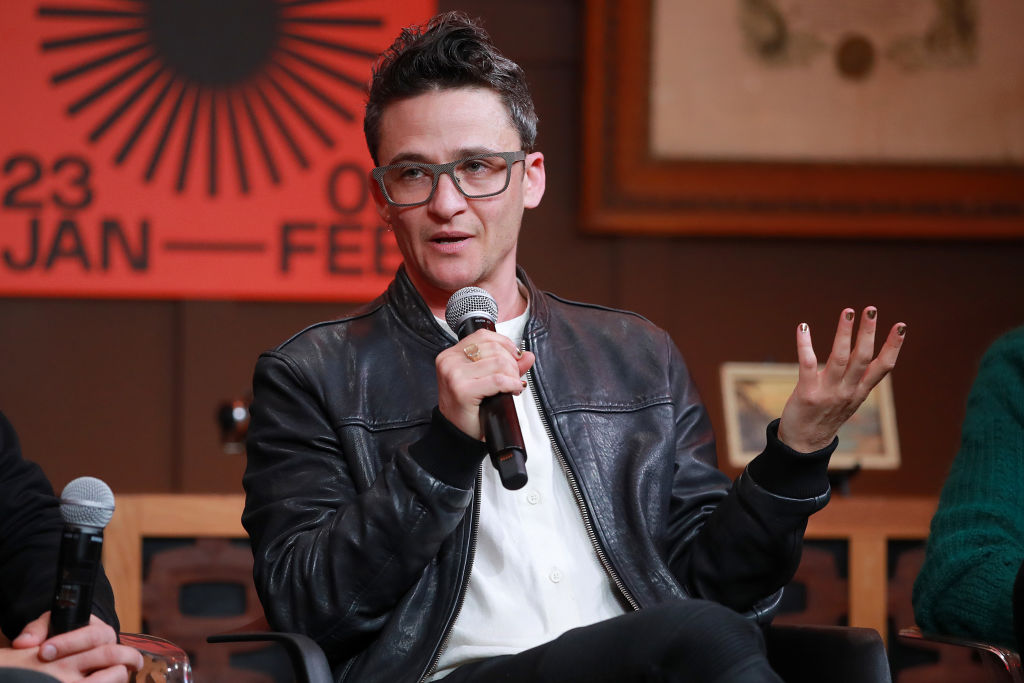 Sam Feder, director of the documentary 'Disclosure,' speaks onstage at the Sundance Film Festival on February 01, 2020 in Park City, Utah.