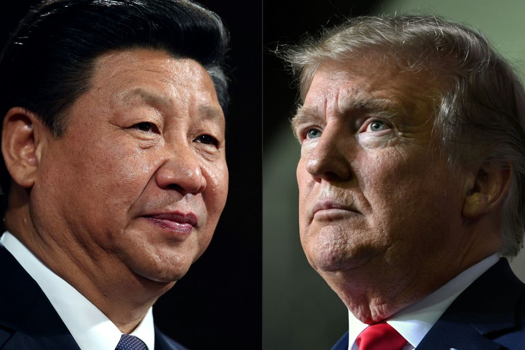 China's President Xi Jinping, left, and U.S. President Donald Trump, right.