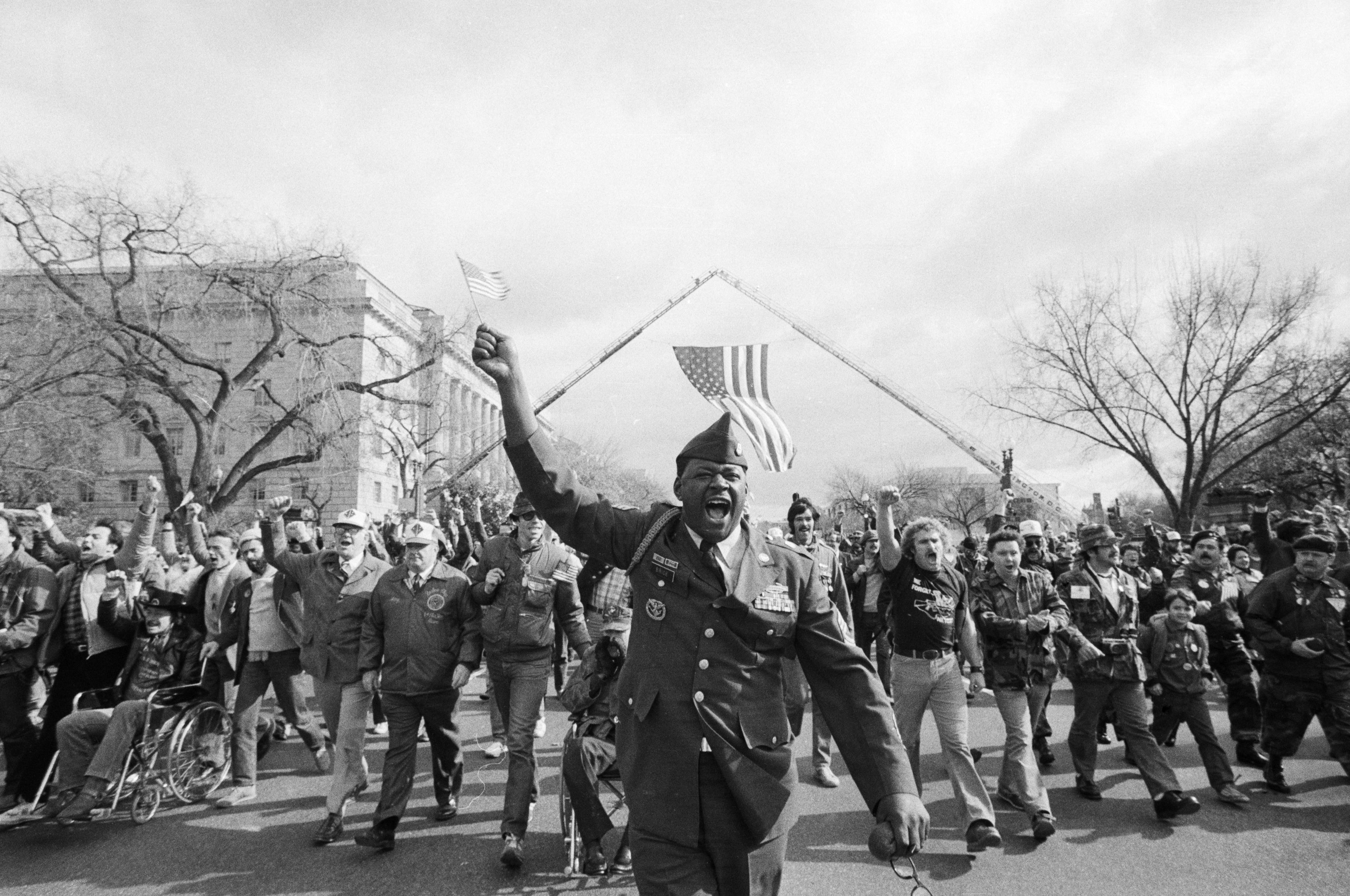 Vietnam veteran Eugene Brice at the 1982 Vietnam Veteran's parade in Washington D.C.