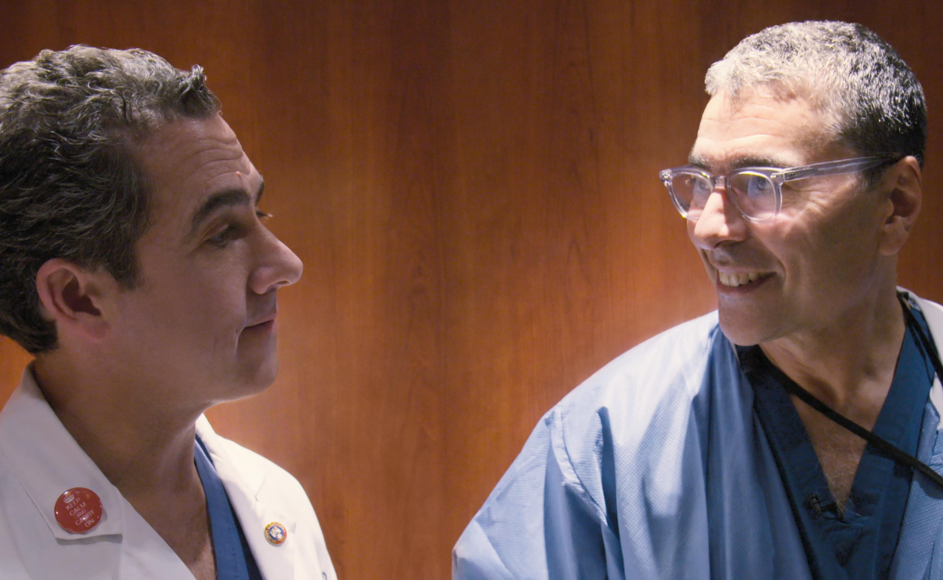 Dr. John Boockvar, left, and Dr. David Langer