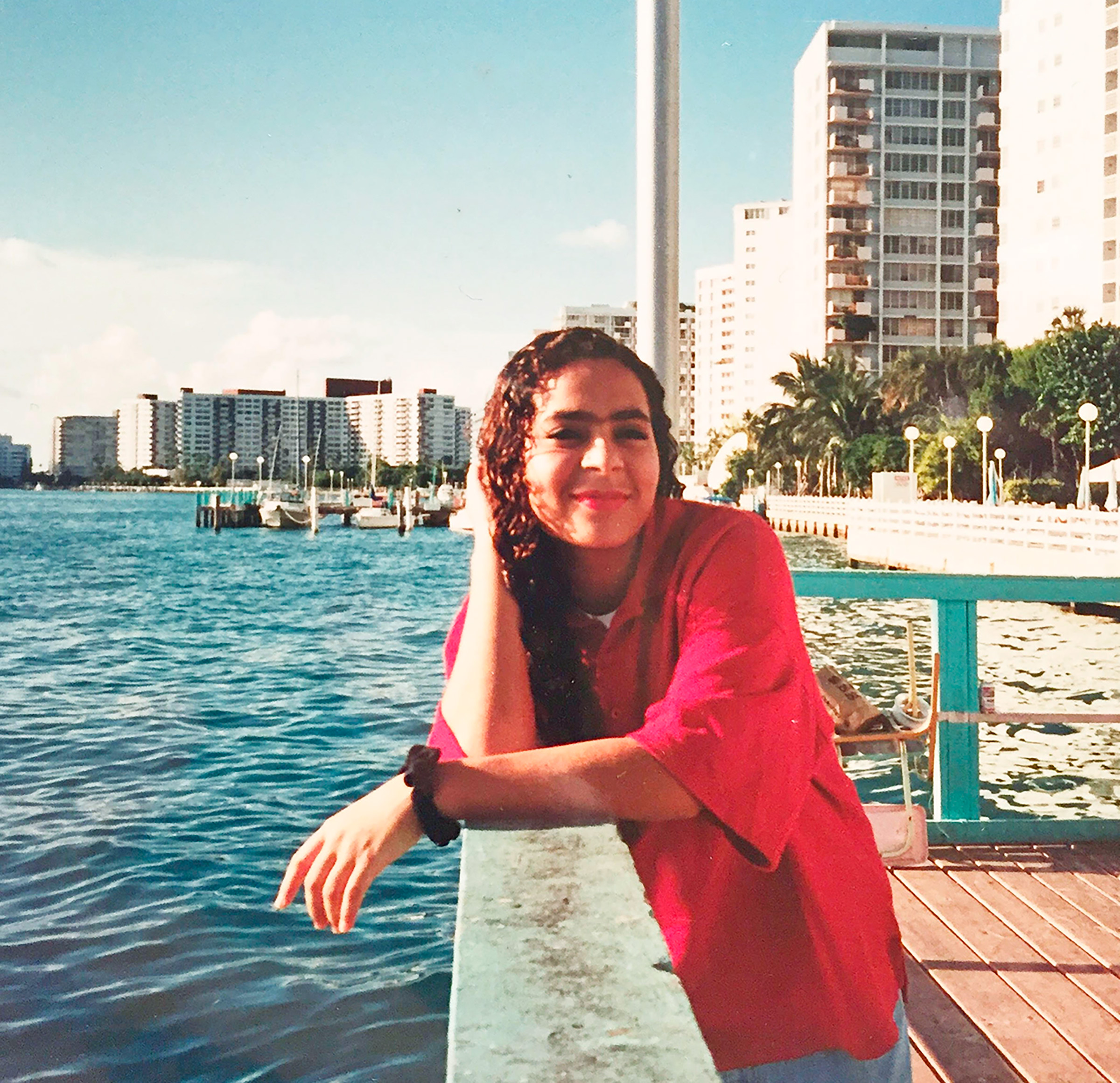 The author, at 14, in Miami Beach