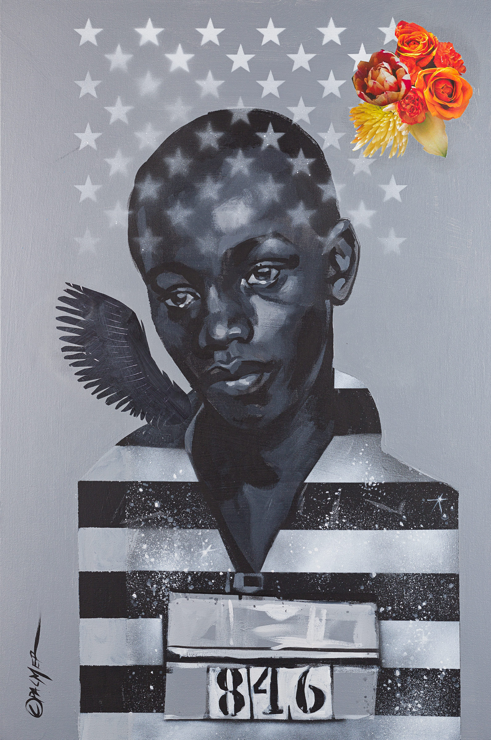 Remember George Stinney,  acrylic on canvas
