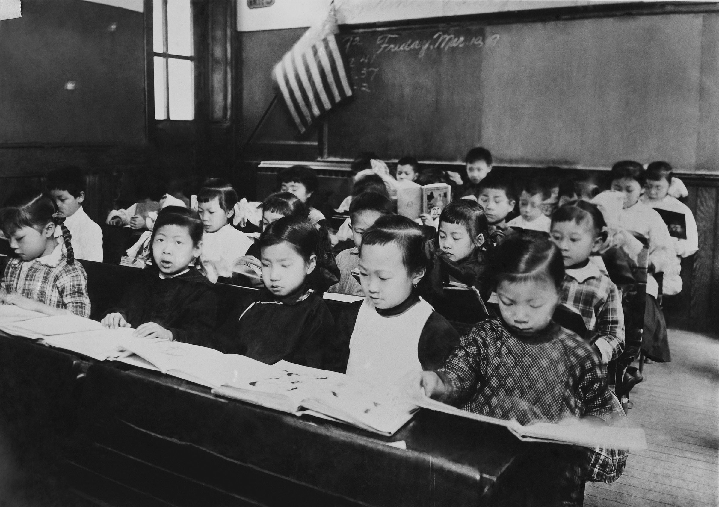 A classroom composed of Chinese children in New York, 1900