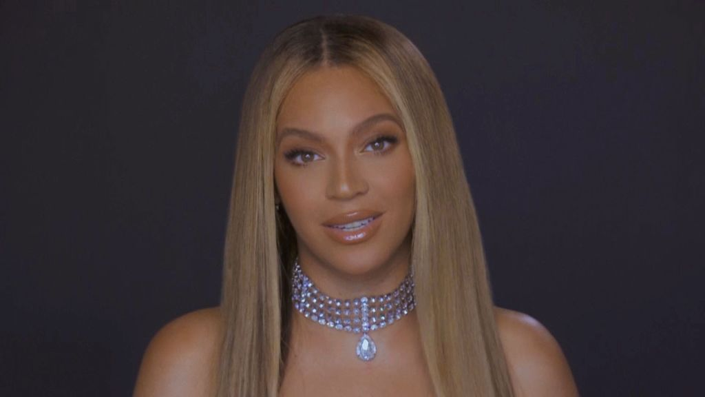 In this screengrab, Beyoncé is seen during the 2020 BET Awards. The 20th annual BET Awards, which aired June 28, 2020, was held virtually due to restrictions to slow the spread of COVID-19. (Photo by BET Awards 2020/Getty Images via Getty Images)