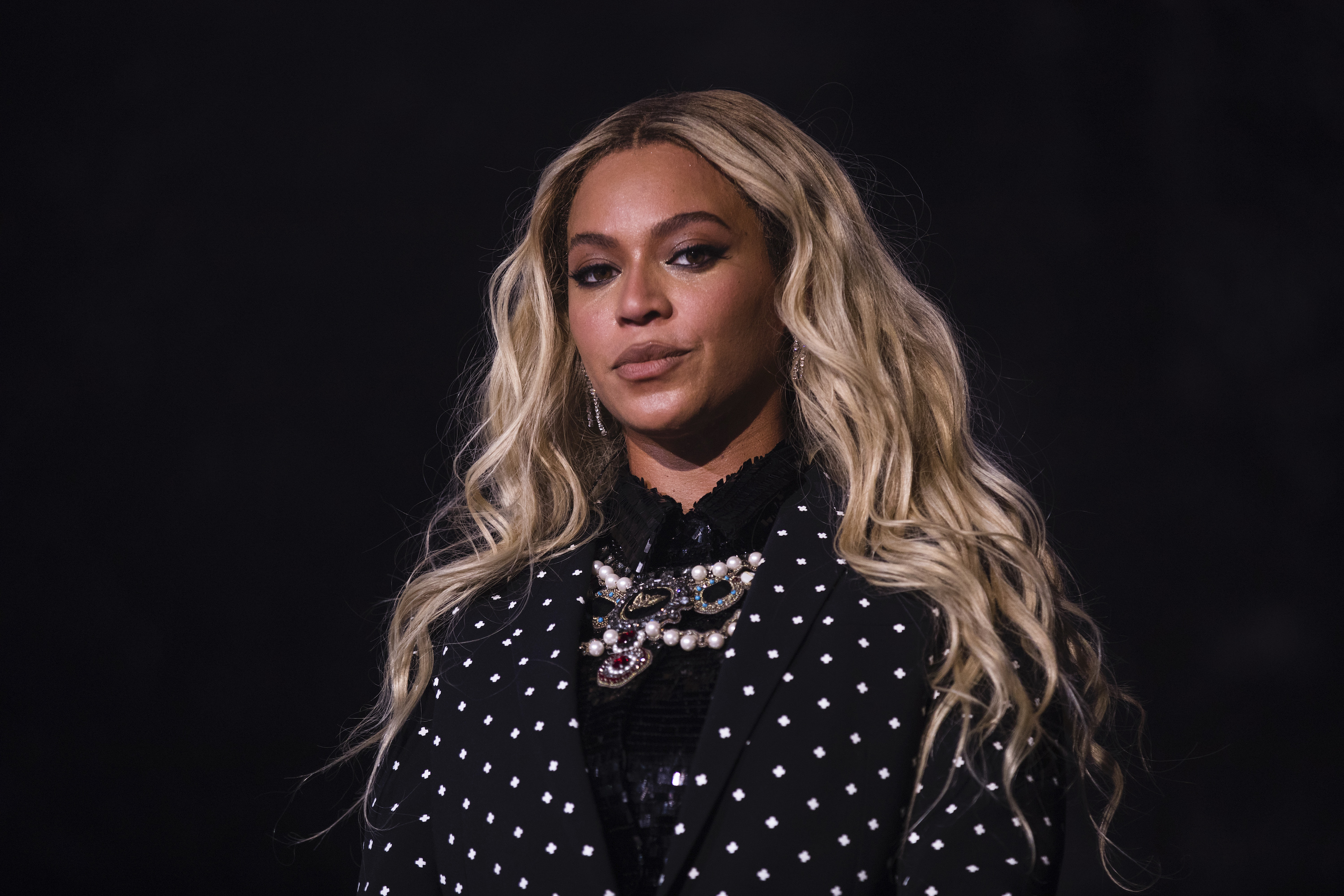 Beyonce performs at a concert for Democratic Presidential candidate Hillary Clinton, Nov. 4, 2016 in Cleveland, Ohio.