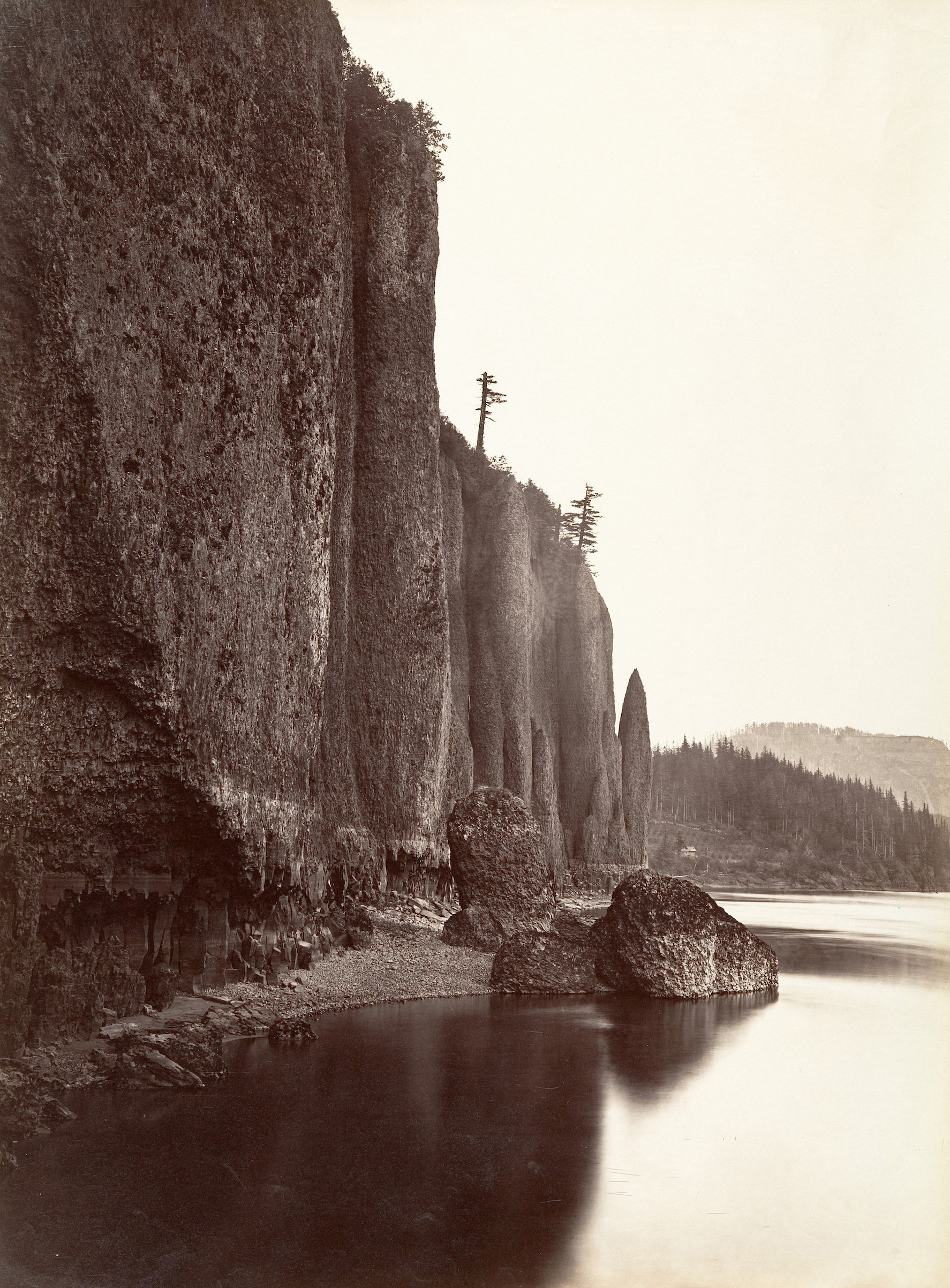 The Columbia River in Oregon, photographed in 1867