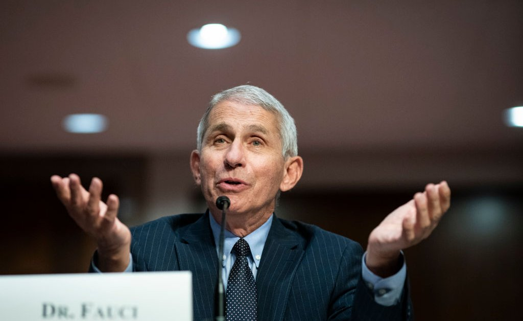 Dr. Anthony Fauci Warns U.S. Coronavirus Cases Could Swell to 100,000 a Day