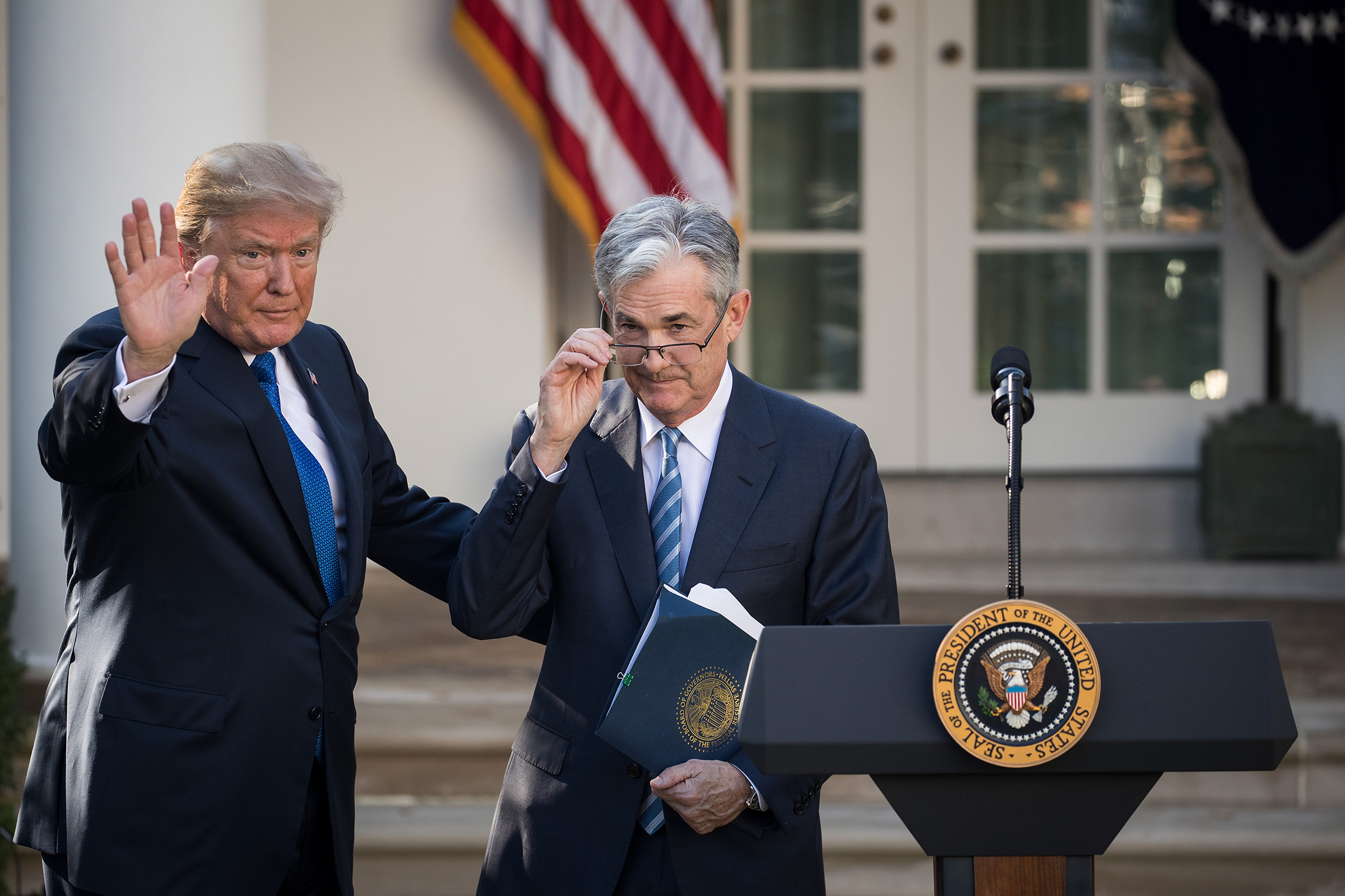Trump introduces Powell as his nominee for chairman of the Fed in 2017