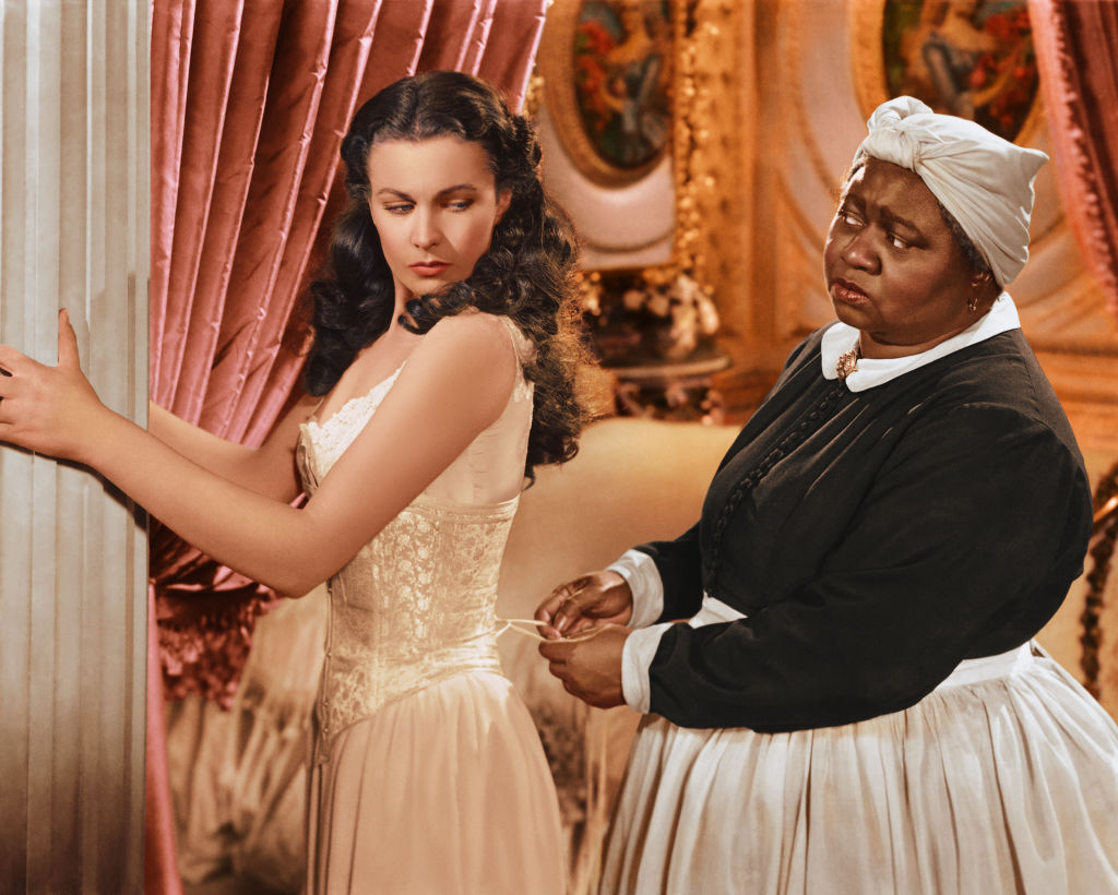 Scarlett O'Hara (Vivien Leigh) and Mammy (Hattie McDaniel) in Gone with the Wind.