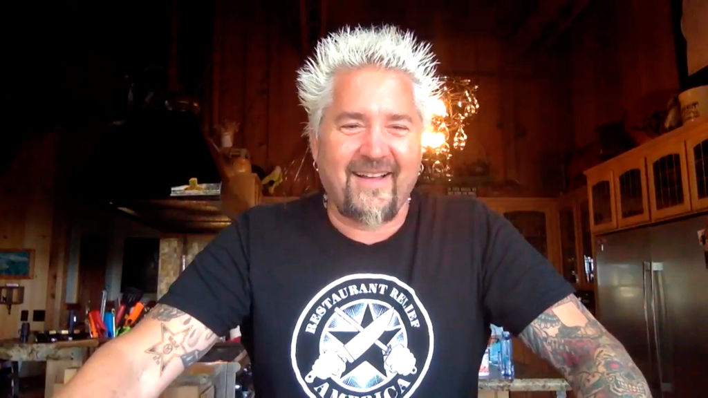 Chef Guy Fieri during an interview on May 8, 2020.