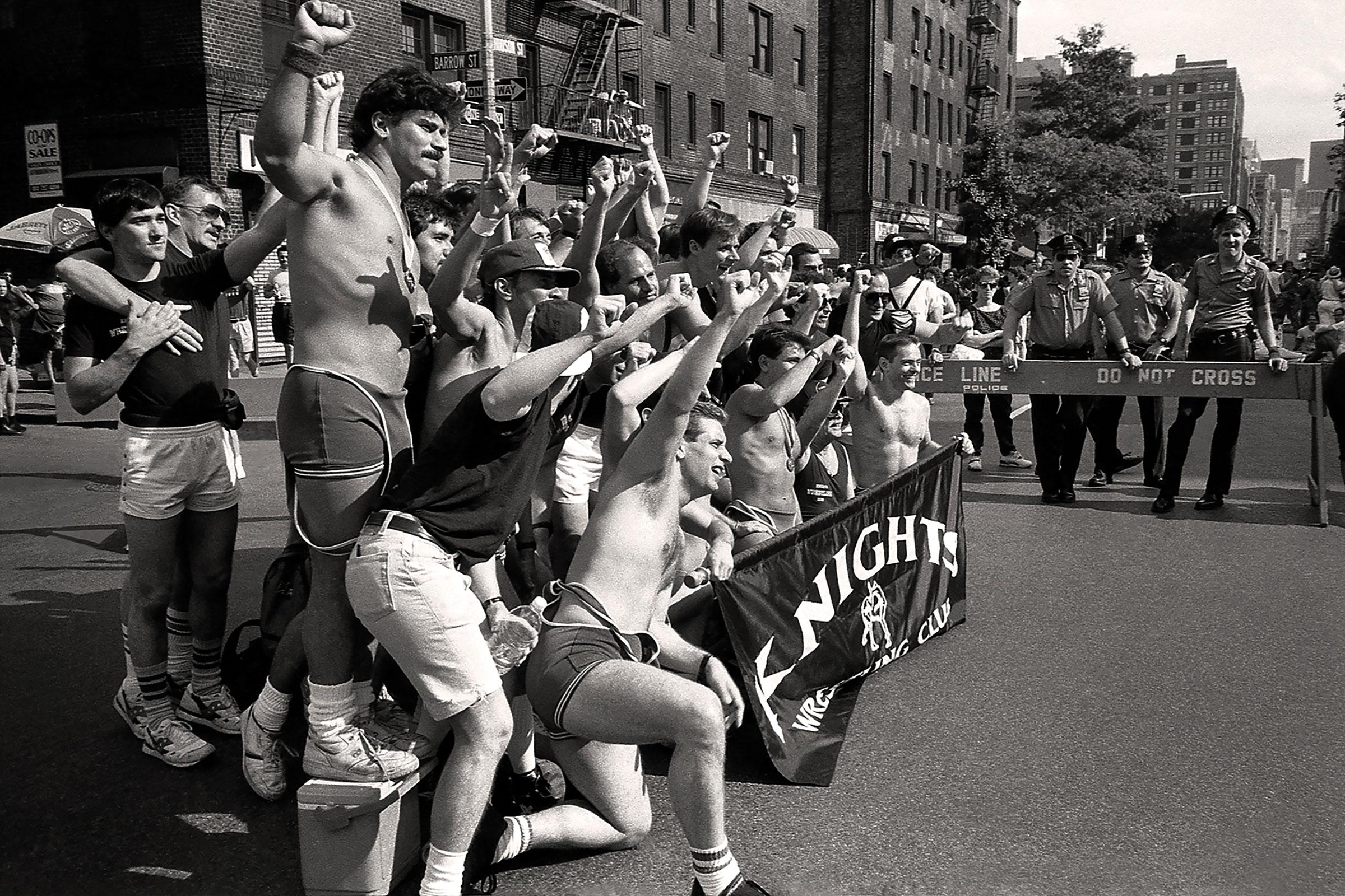 Knights Wrestling Team, Hudson Street, NYC, 1990