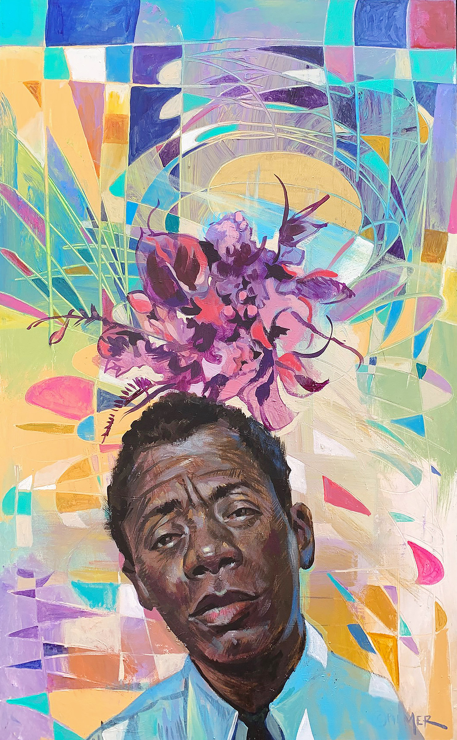 Baldwin Blooms,  acrylic on canvas