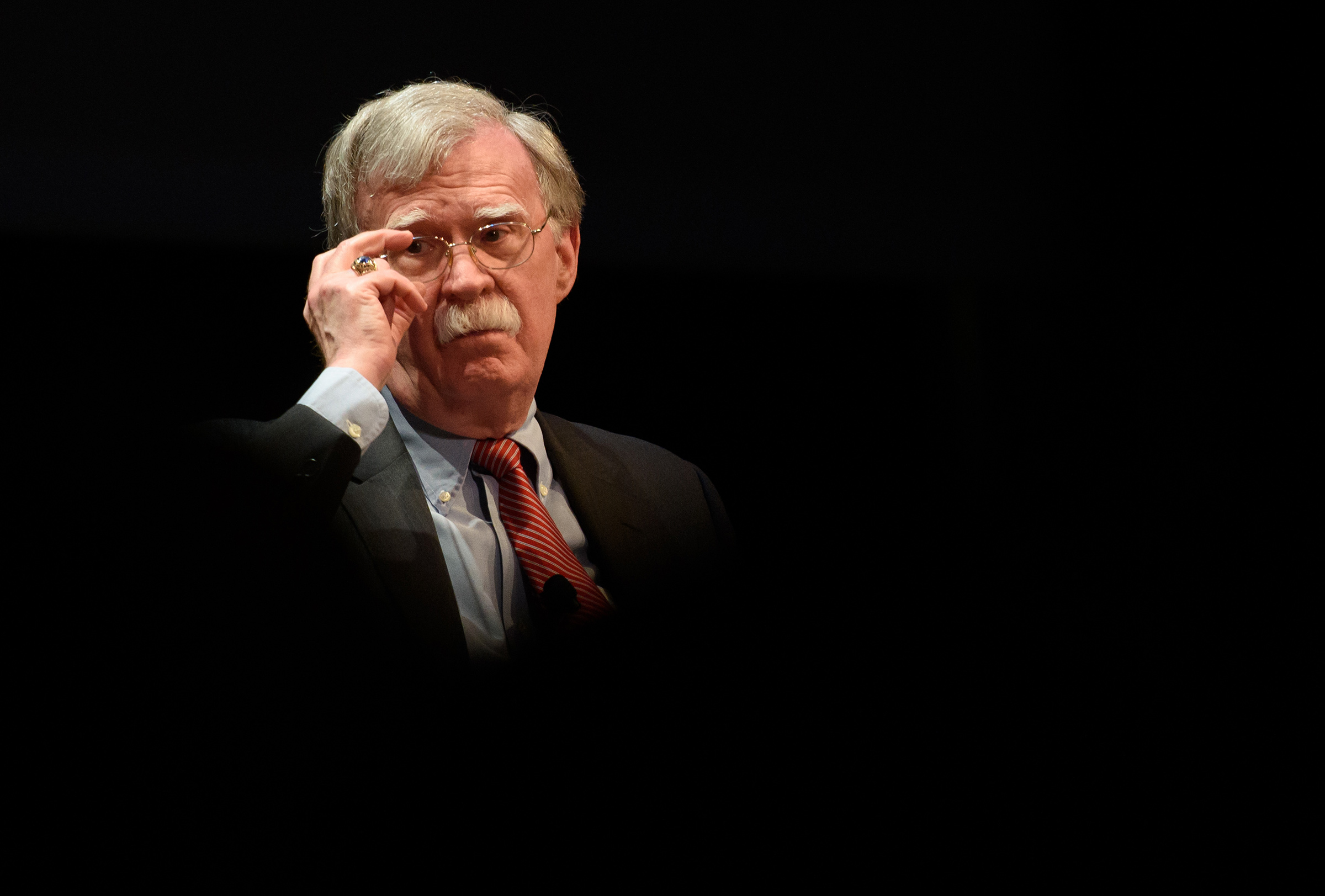 Former National Security Advisor John Bolton at the Page Auditorium on the campus of Duke University on Feb. 17, 2020.