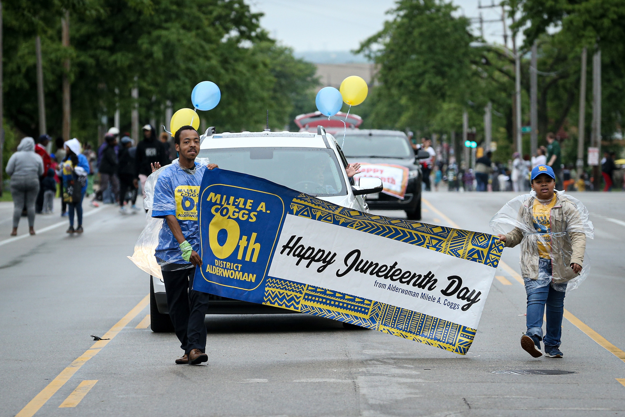 A parade during the 48th Annual Juneteenth Day Festival on June 19, 2019 in Milwaukee