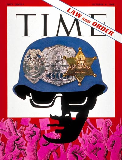 The Oct. 4, 1968, cover of TIME, the month before the 1968 Presidential election.