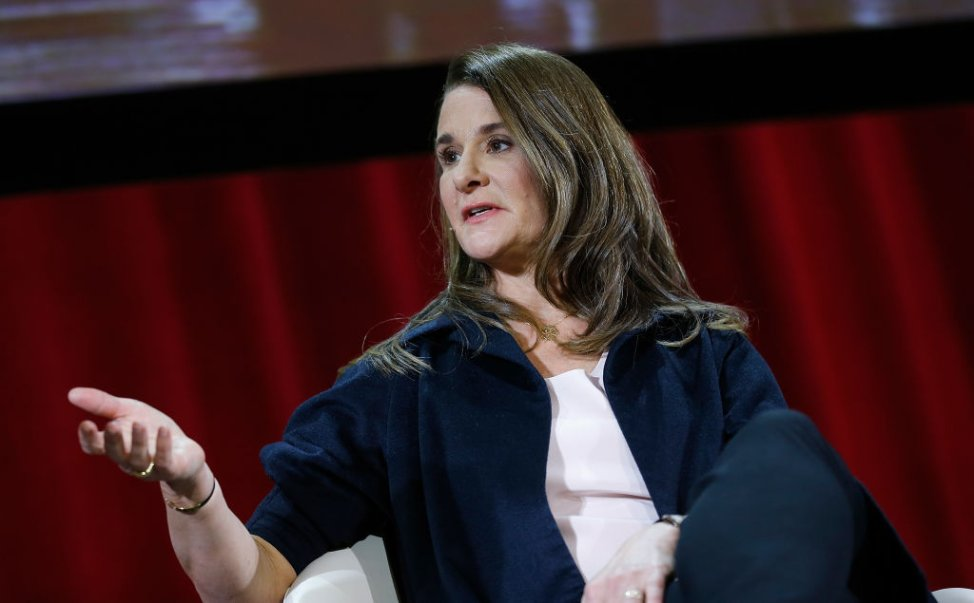 Melinda Gates speaks during a                       panel at Hunter College in New York City on Feb. 13, 2018 in New York City.