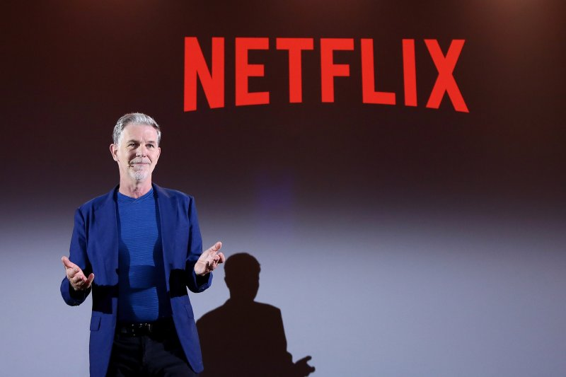 Netflix Founder and CEO Reed Hastings attends panel during Netflix 'See What's Next' event at Villa Miani on April 18, 2018 in Rome, Italy.