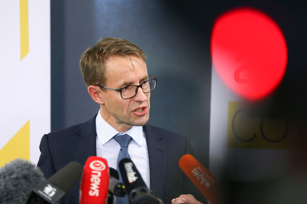 Director-General of Health Dr. Ashley Bloomfield speaks to media during a press conference at the Ministry of Health on June 16, 2020 in Wellington, New Zealand. Two new cases of COVID-19 have been confirmed in New Zealand after 24 days without an active case in the country. The new confirmed cases are returning travelers from the United Kingdom and are related.