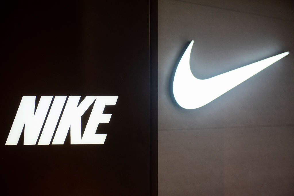 A logo of American multinational sport clothing brand Nike seen in Hong Kong on May, 08 2019.