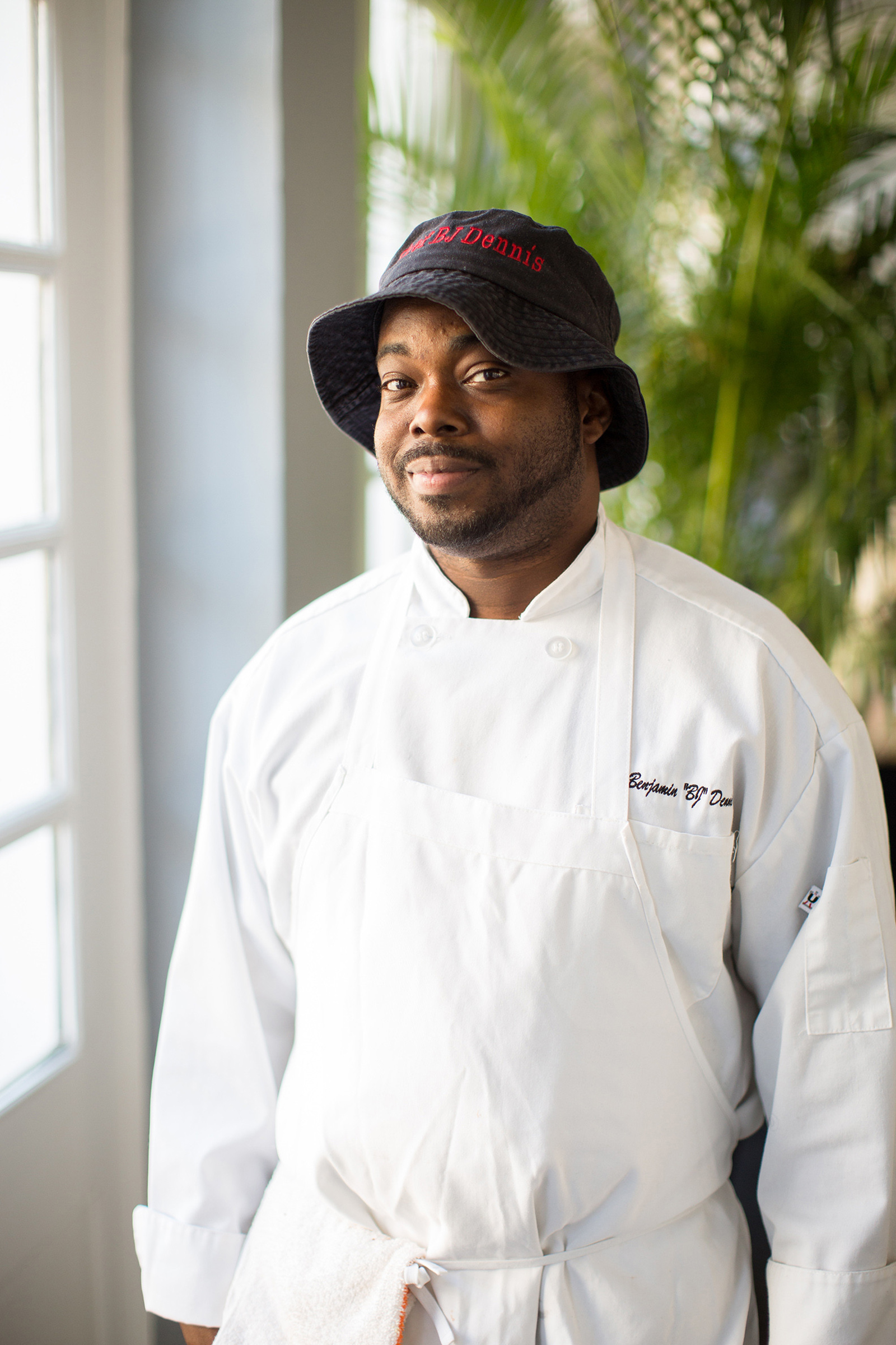 Dennis, chef and champion of Gullah Geechee cuisine, in Charleston, S.C., in 2017