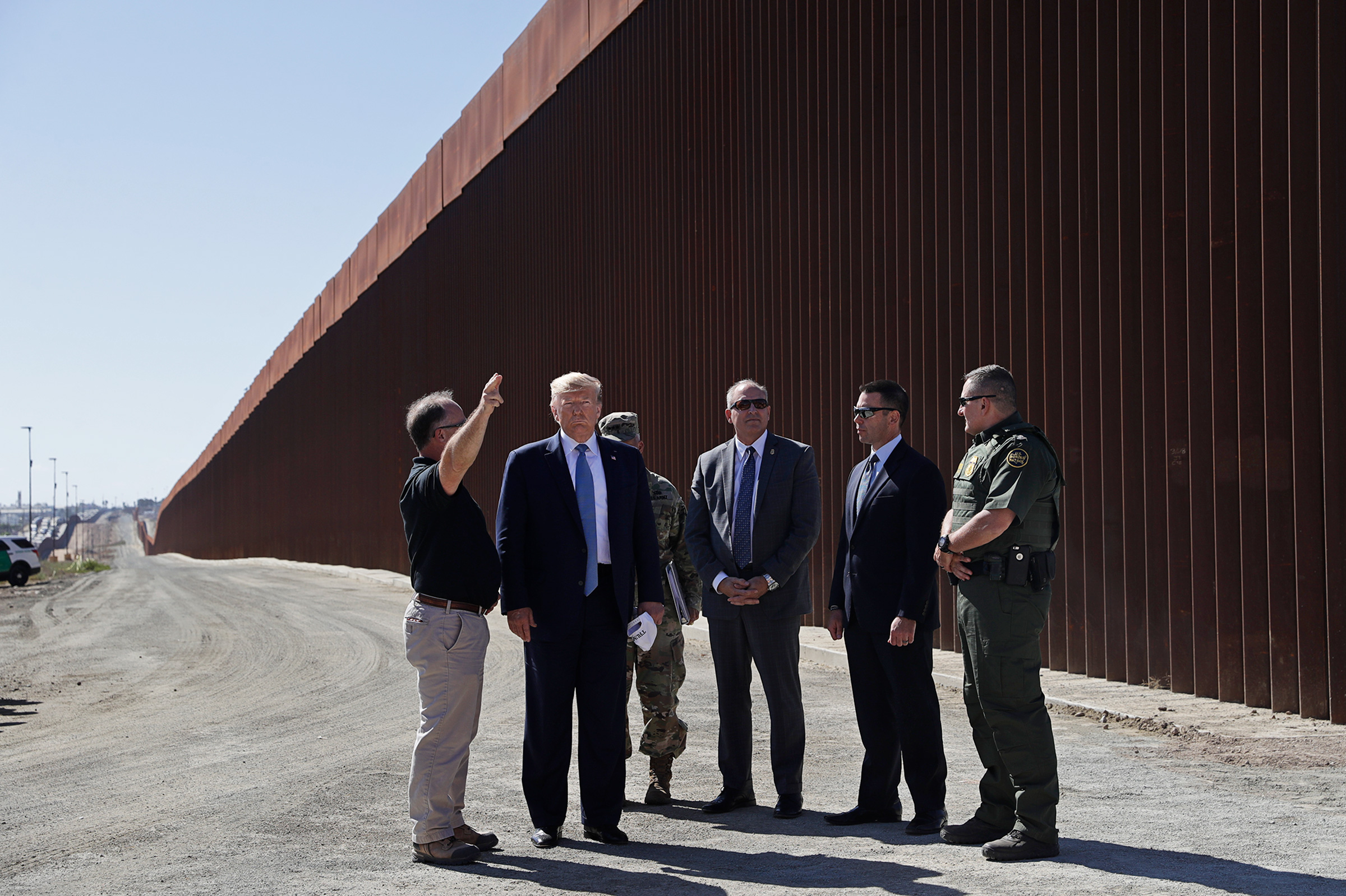 Trump tours a section of the border wall in Otay Mesa, Calif., on Sept. 18, 2019