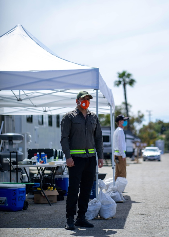 Ahmed Al-Sarray at the Dodger Stadium COVID testing site in Los Angeles on May 30, 2020.