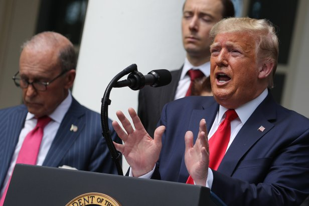 U.S. President Donald Trump speaks during a news conference in the Rose Garden at the White House on June 05, 2020 in Washington, DC.
