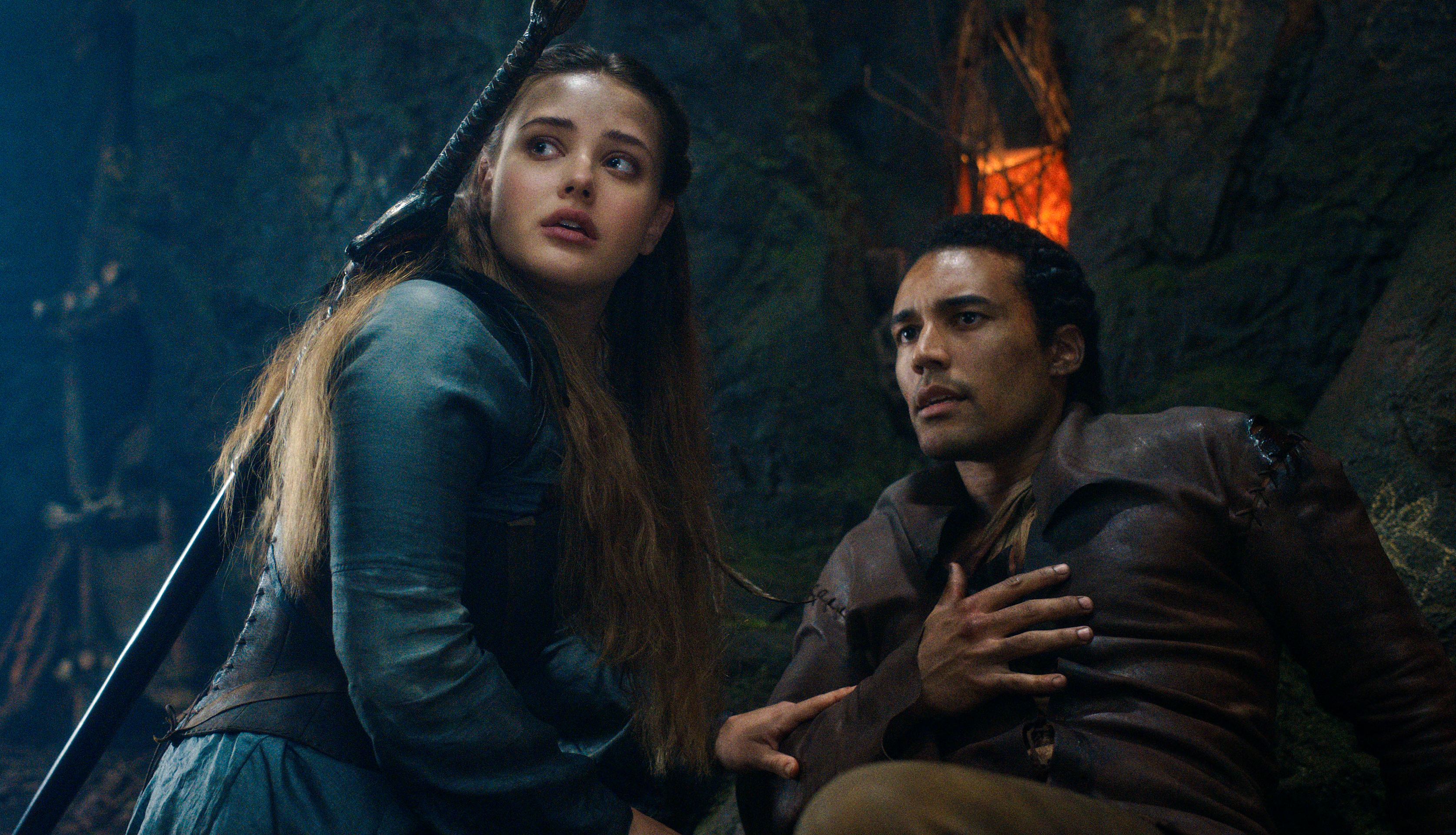 Katherine Langford and Devon Terrell in 'Cursed'