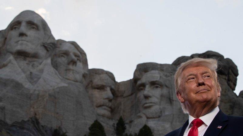 Trump Pushes Division at Mt. Rushmore Speech