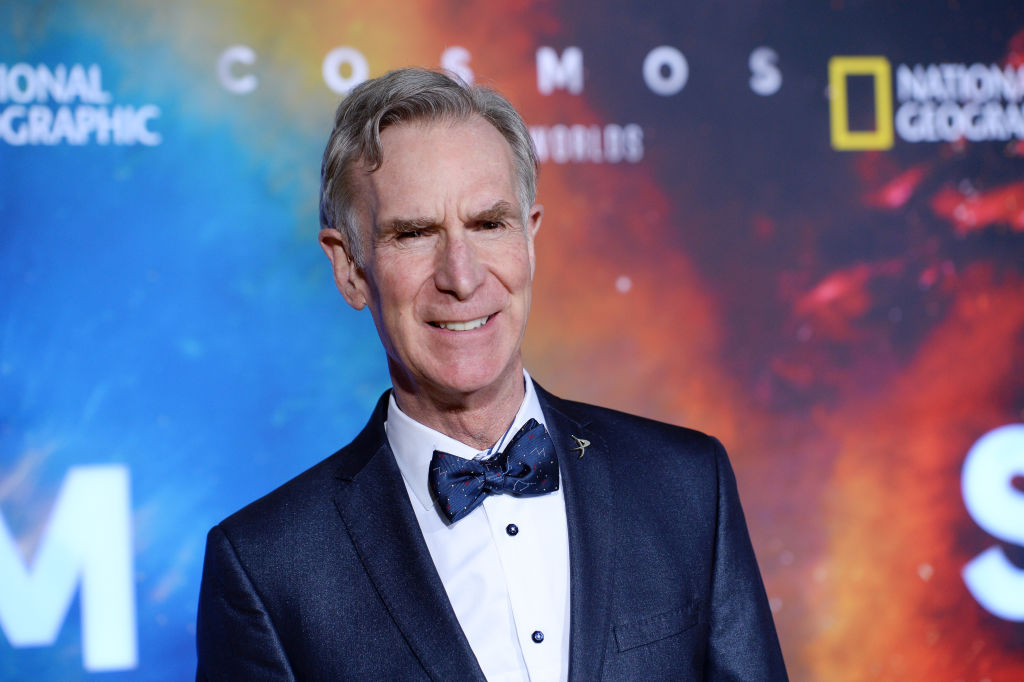 Bill Nye arrives at National Geographic's  Cosmos: Possible Worlds  Los Angeles Premiere at Royce Hall, UCLA on February 26, 2020 in Westwood, California.