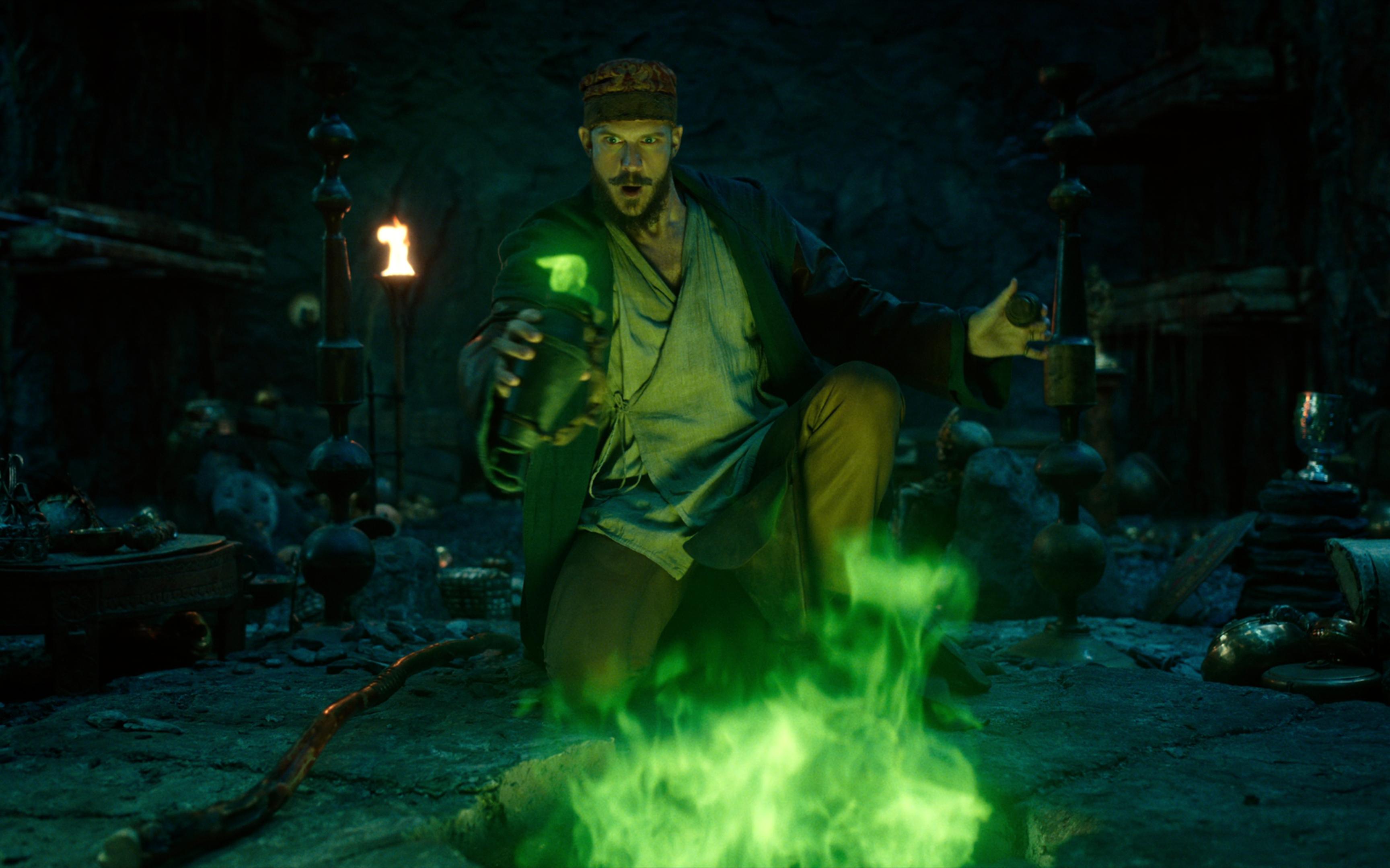 Gustaf Skarsgard as Merlin in 'Cursed'