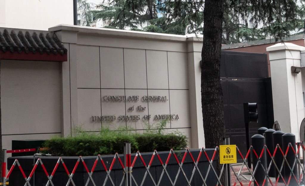 The US Consulate-General in Chengdu is pictured on July 23, 2020 in Chengdu, Sichuan province, China.
