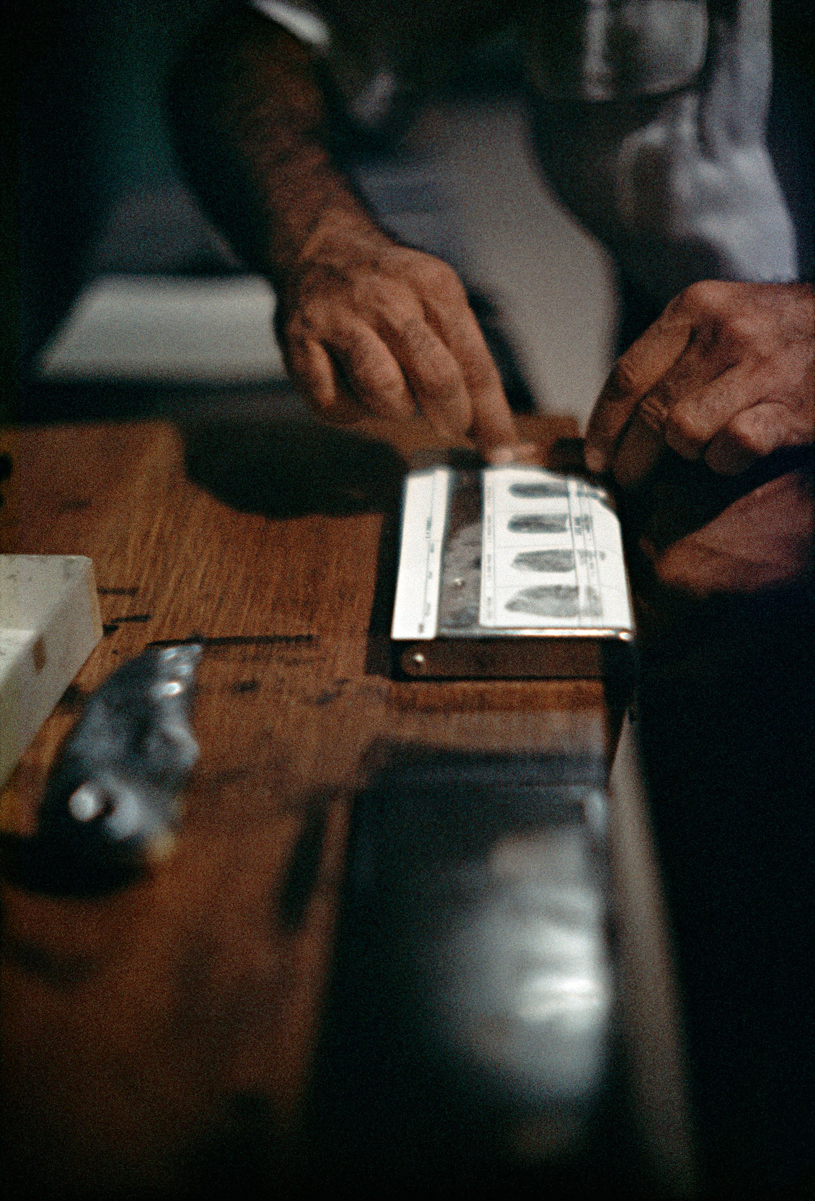 Fingerprinting Addicts for Forging Prescriptions, Chicago, Illinois, 1957