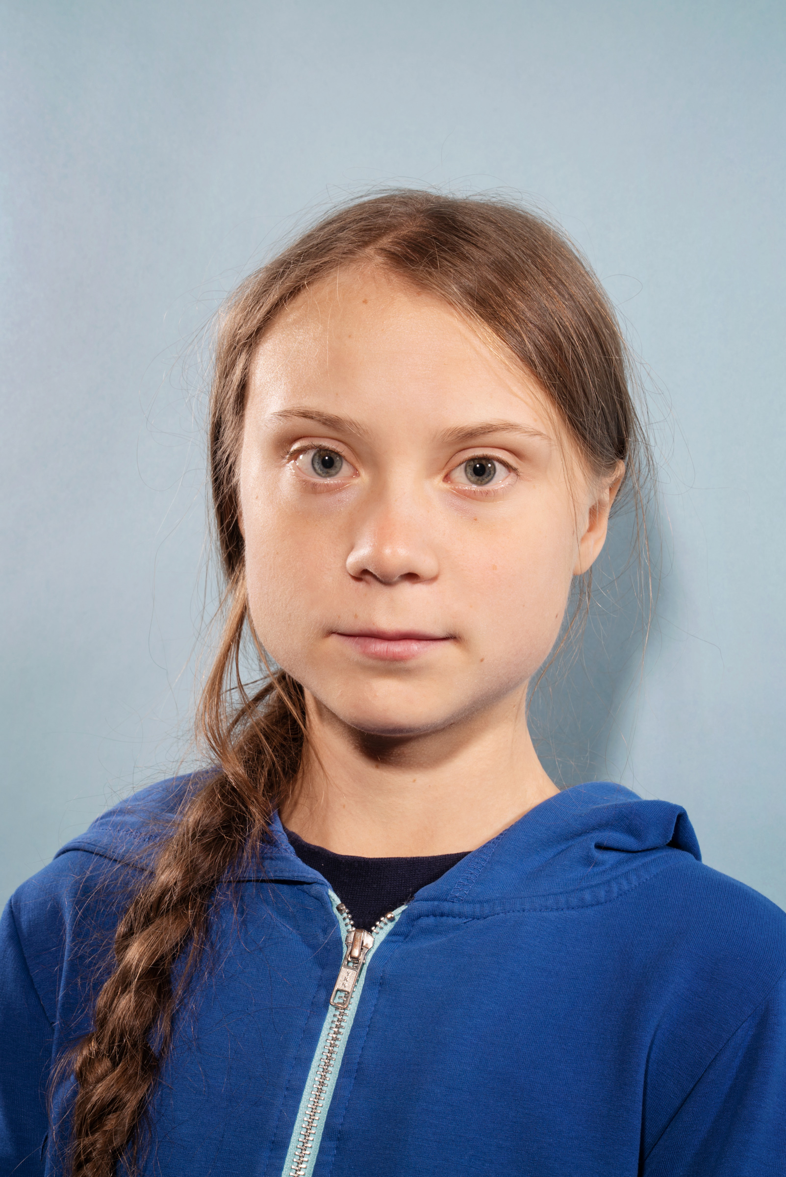 Greta Thunberg photographed in Hampton, Virginia, before sailing back to Europe on November 12, 2019.