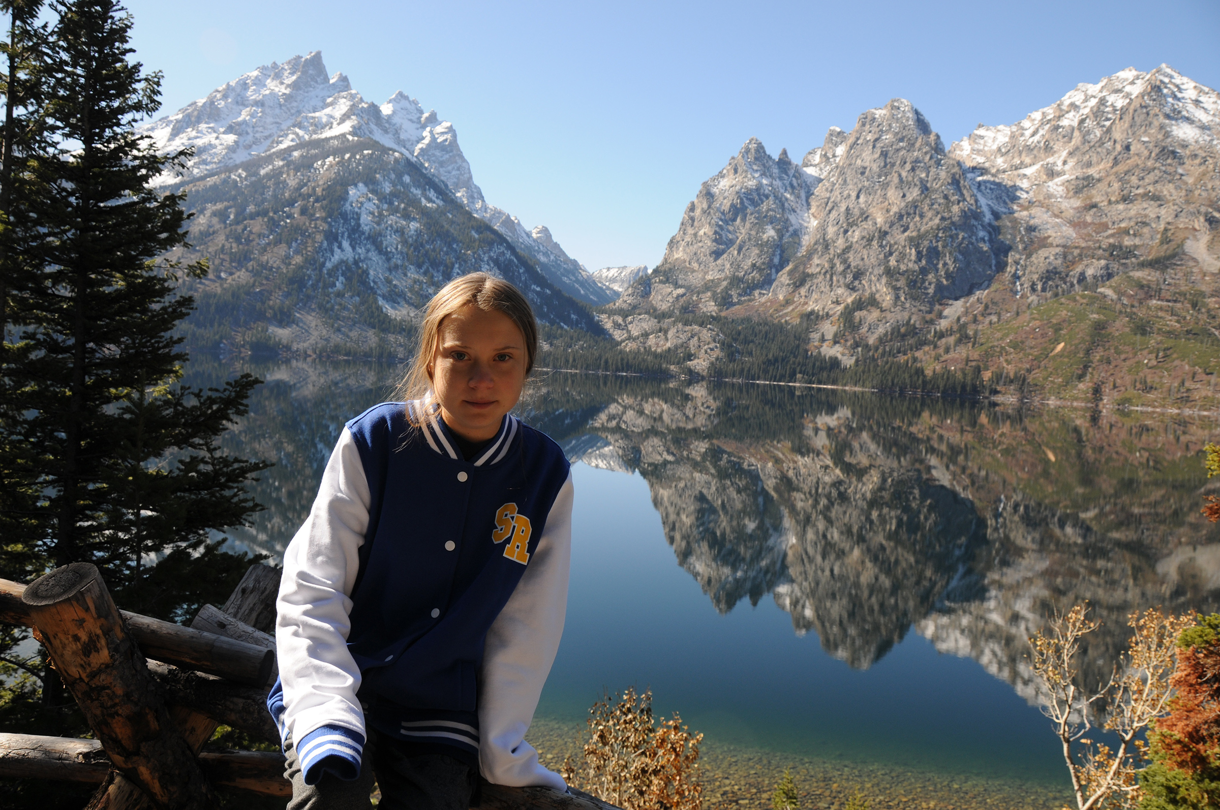 Thunberg visits Grand Teton National Park in Wyoming, Oct. 2019.