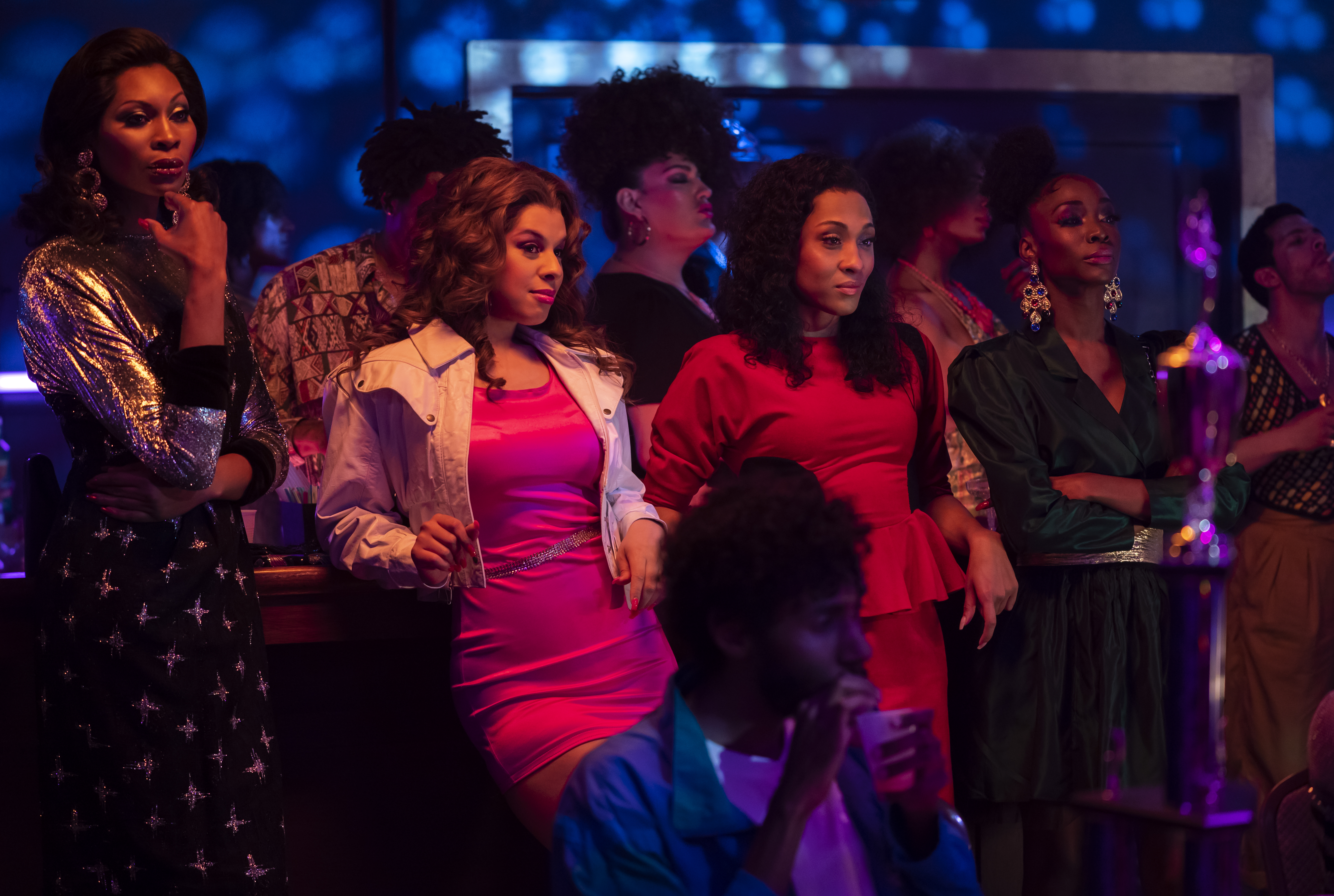 Dominique Jackson, Hailie Sahar, Mj Rodriguez and Angelica Ross in 'Pose'