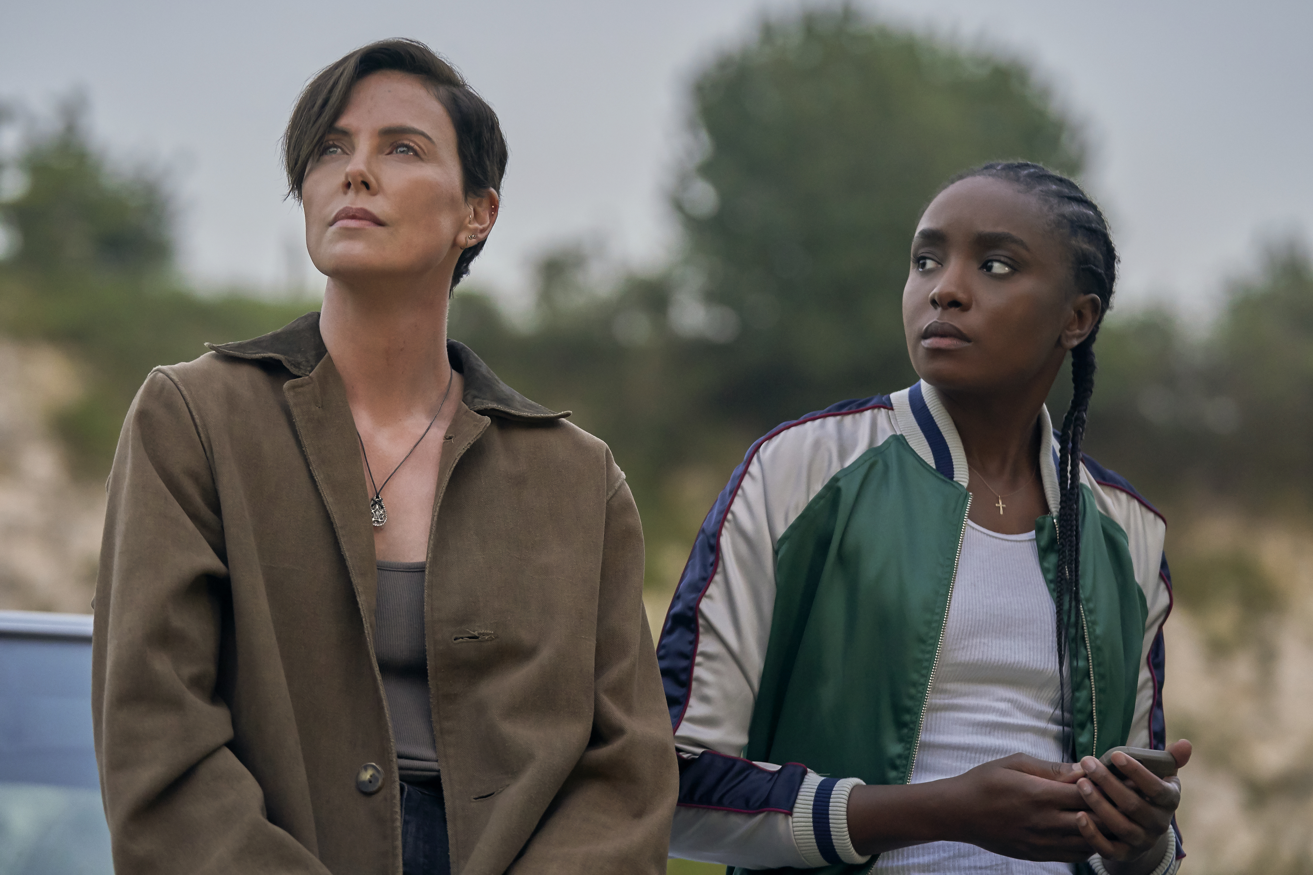 Charlize Theron and Kiki Layne in Netflix's 'The Old Guard'