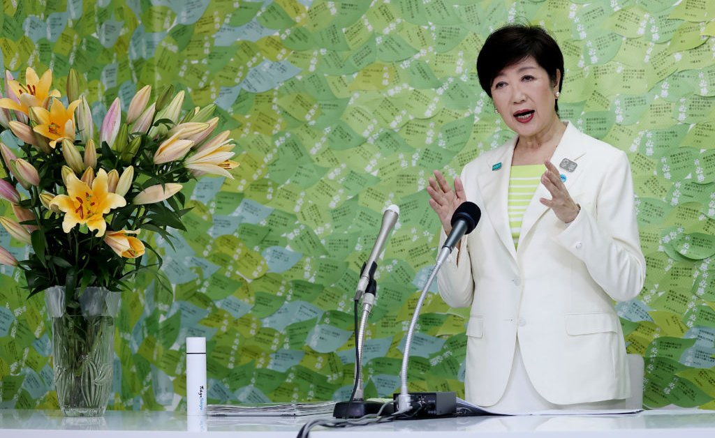 Tokyos First Female Governor Wins Re-Election by Landslide