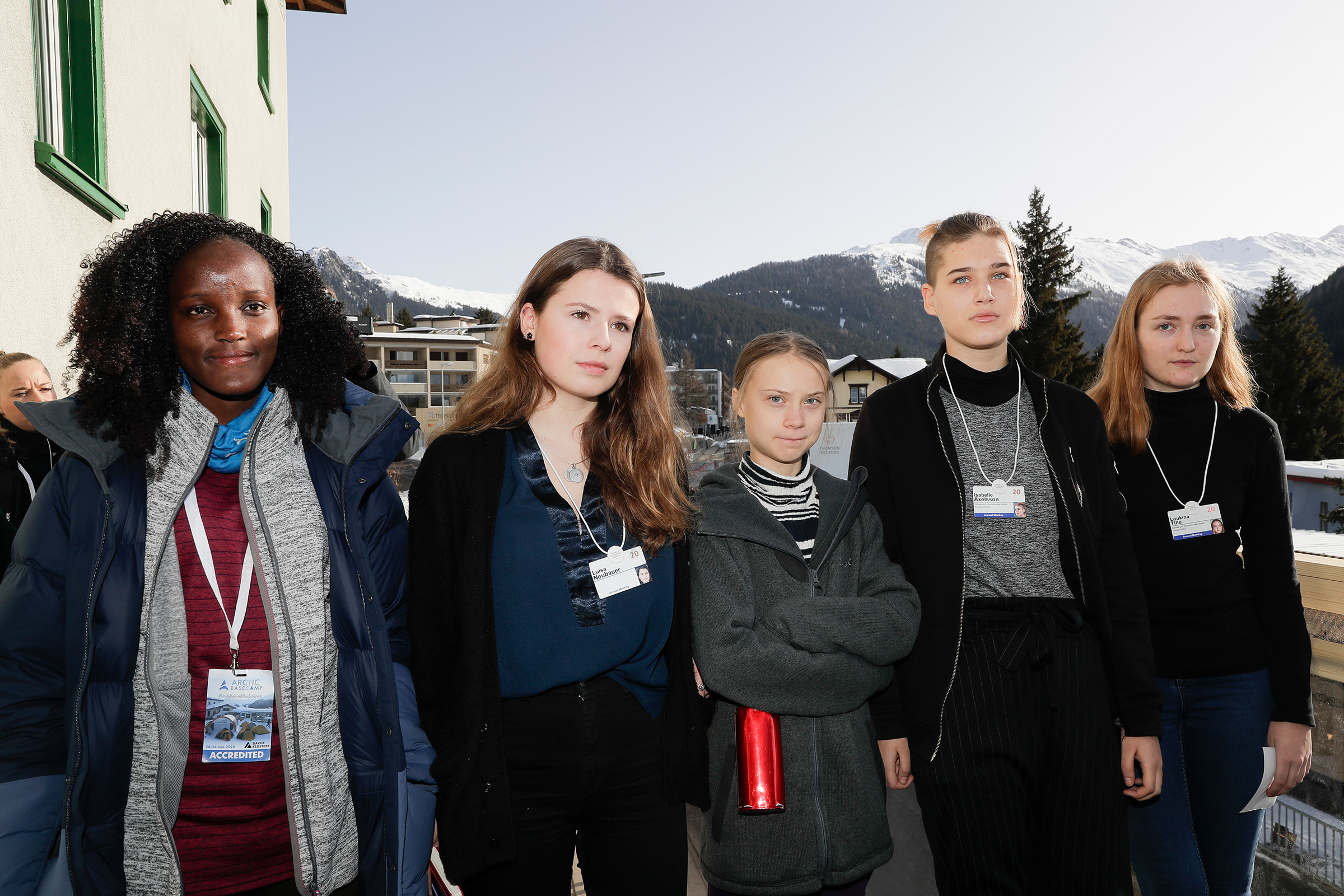 In January, the AP cropped Nakate out of a photo of young climate activists in Davos