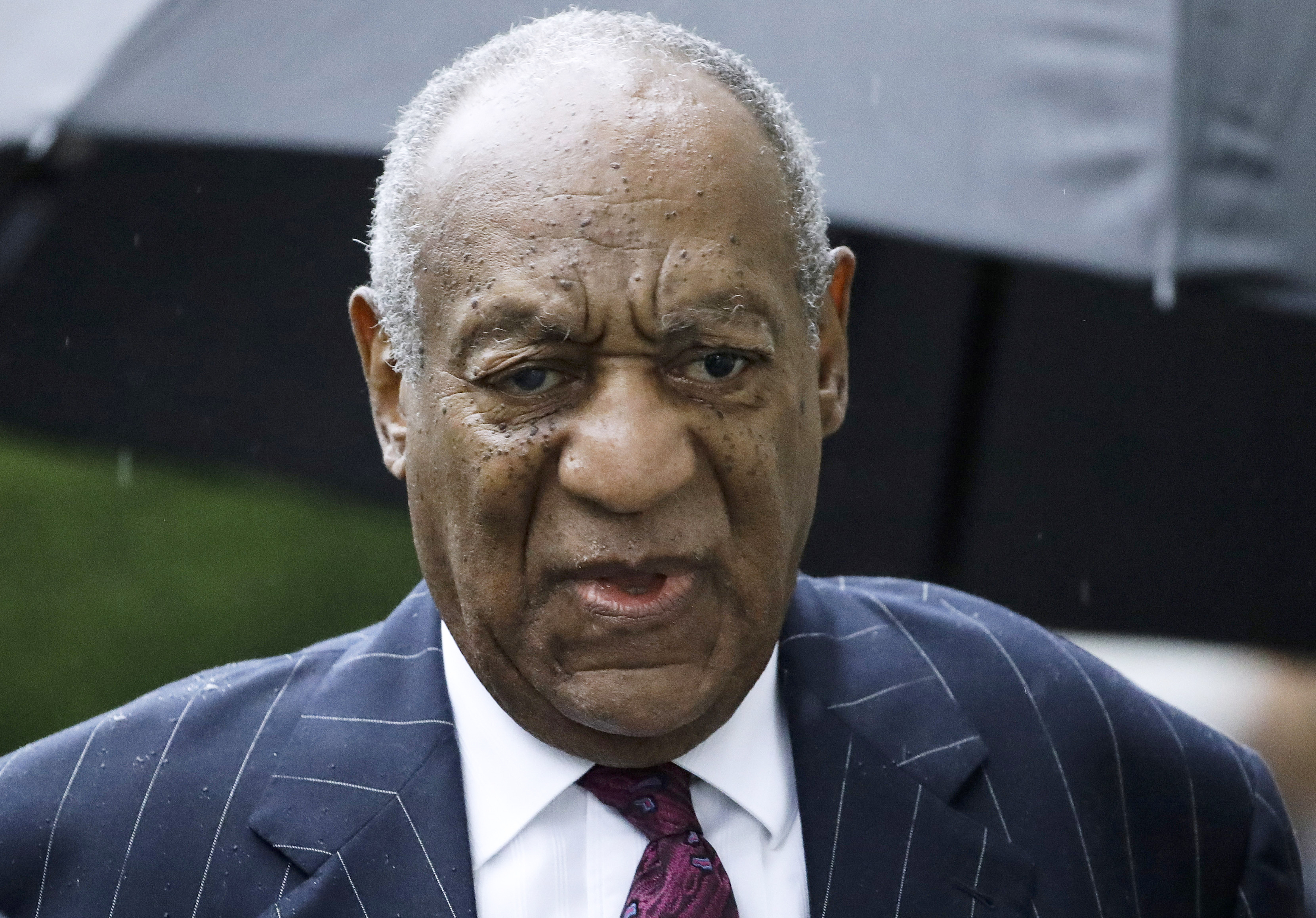 Bill Cosby arrives for a sentencing hearing following his sexual assault conviction at the Montgomery County Courthouse in Norristown, Pa., on Sept. 25, 2018.