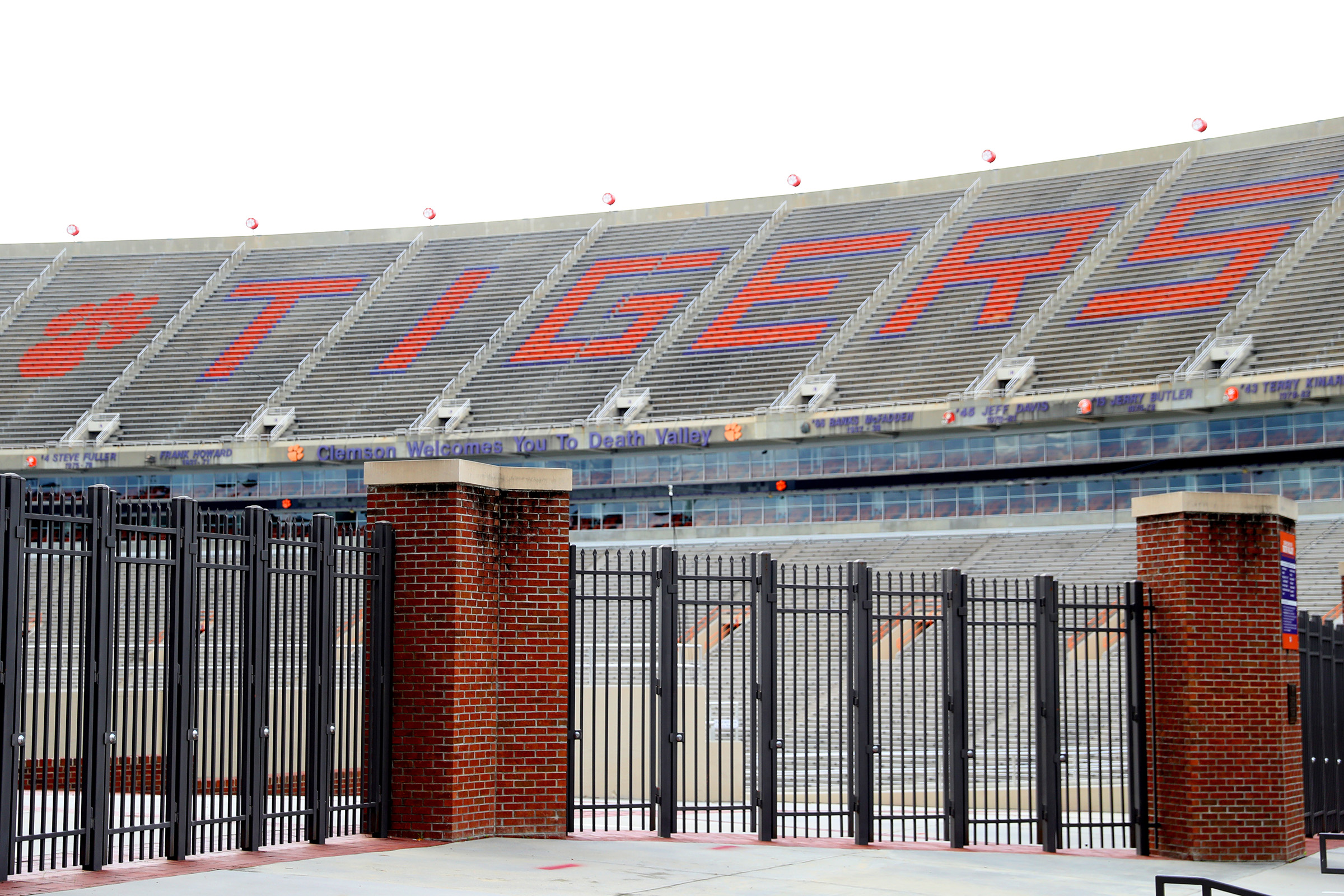 A view empty stands inside of Clemson Memorial Stadium on the campus of Clemson University on June 10, 2020 in Clemson, South Carolina. The campus remains open in a limited capacity due to the Coronavirus (COVID-19) pandemic.