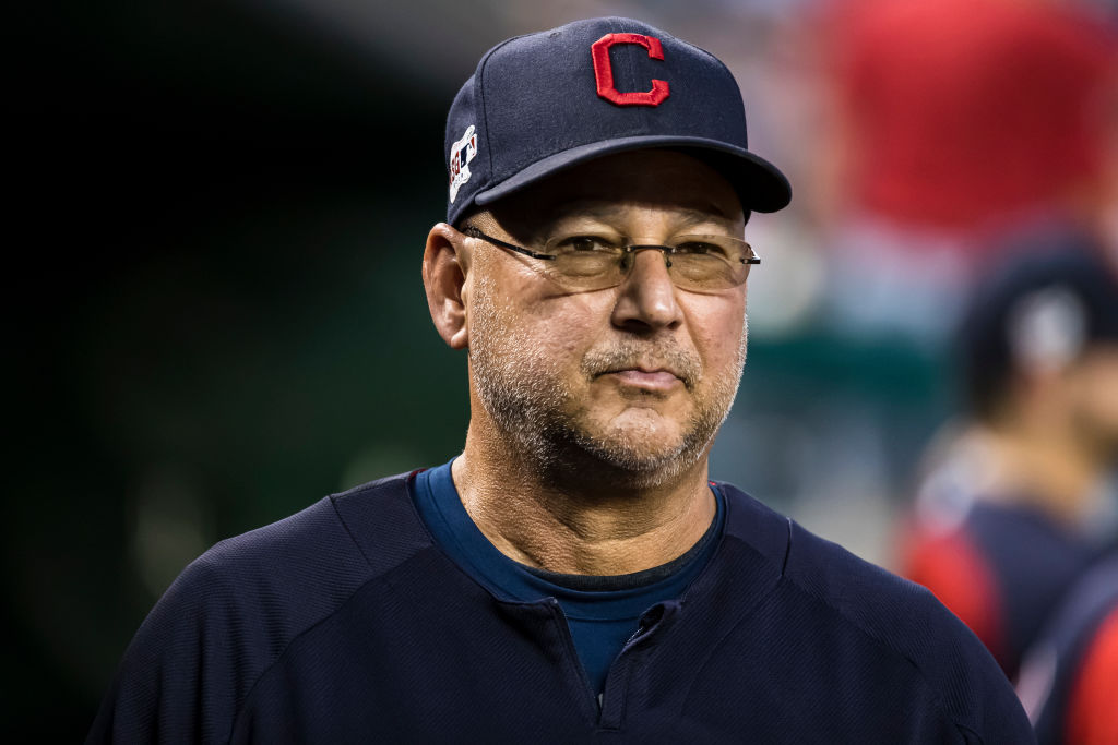 Manager Terry Francona #77 of the Cleveland looks on before the game against the Washington Nationals at Nationals Park on Sept. 27, 2019 in Washington, DC.