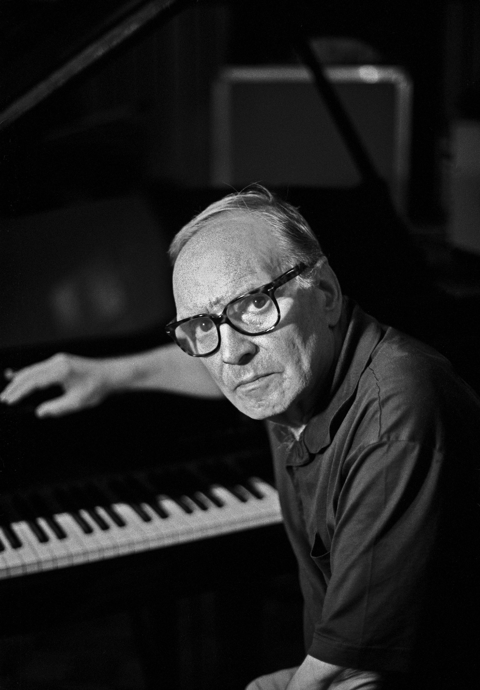 Morricone, pictured in 2003, four years before he received an Academy Award for lifetime achievement