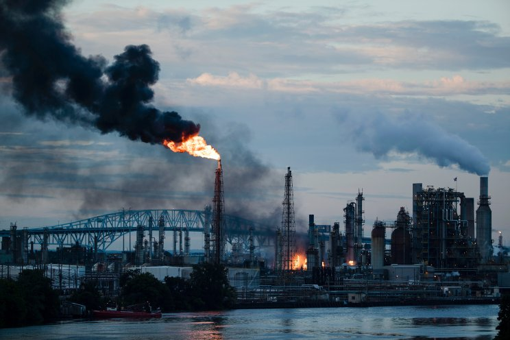The Philadelphia Energy Solutions Refining Complex after catching fire on June21, 2019